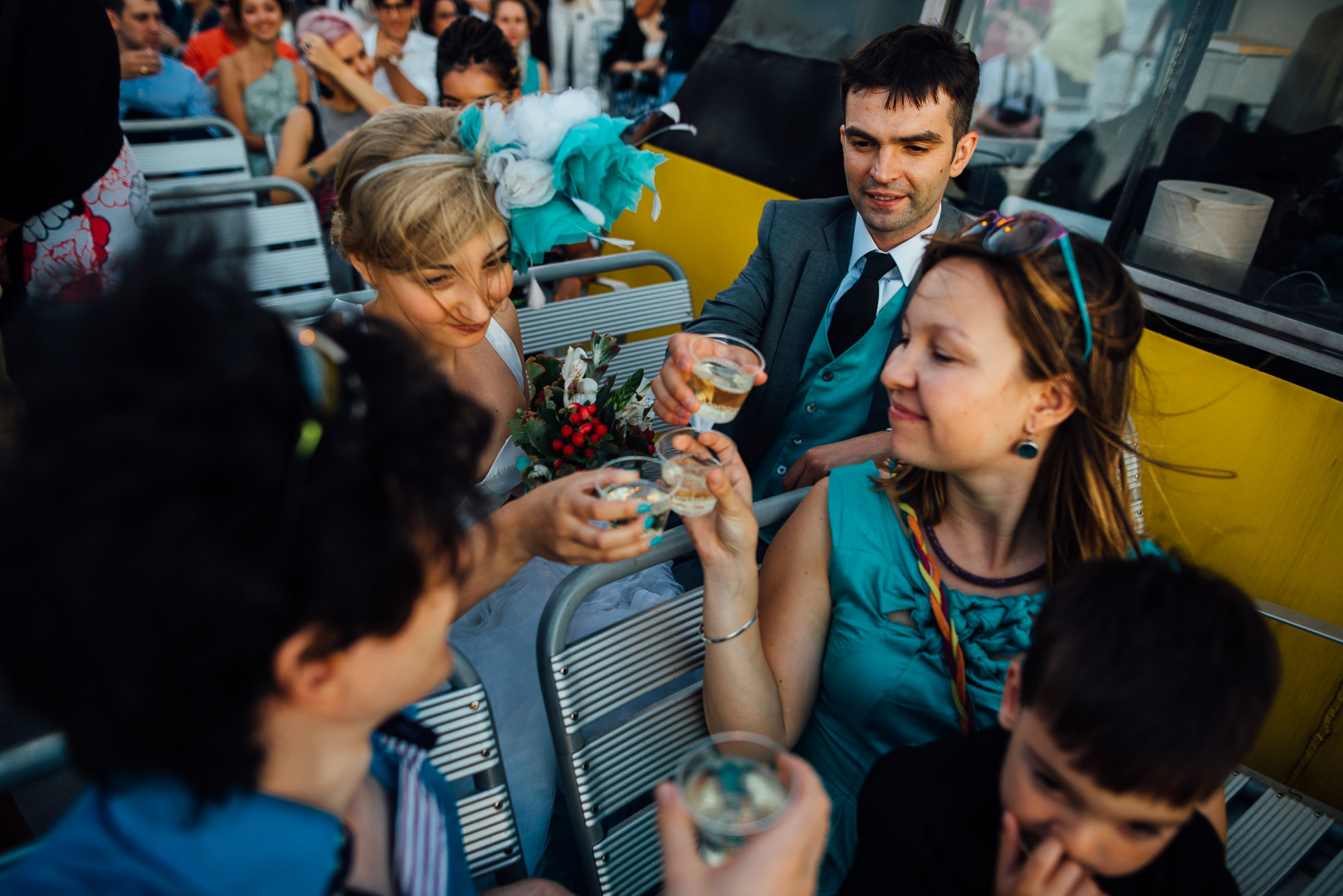 New York Water Taxi wedding