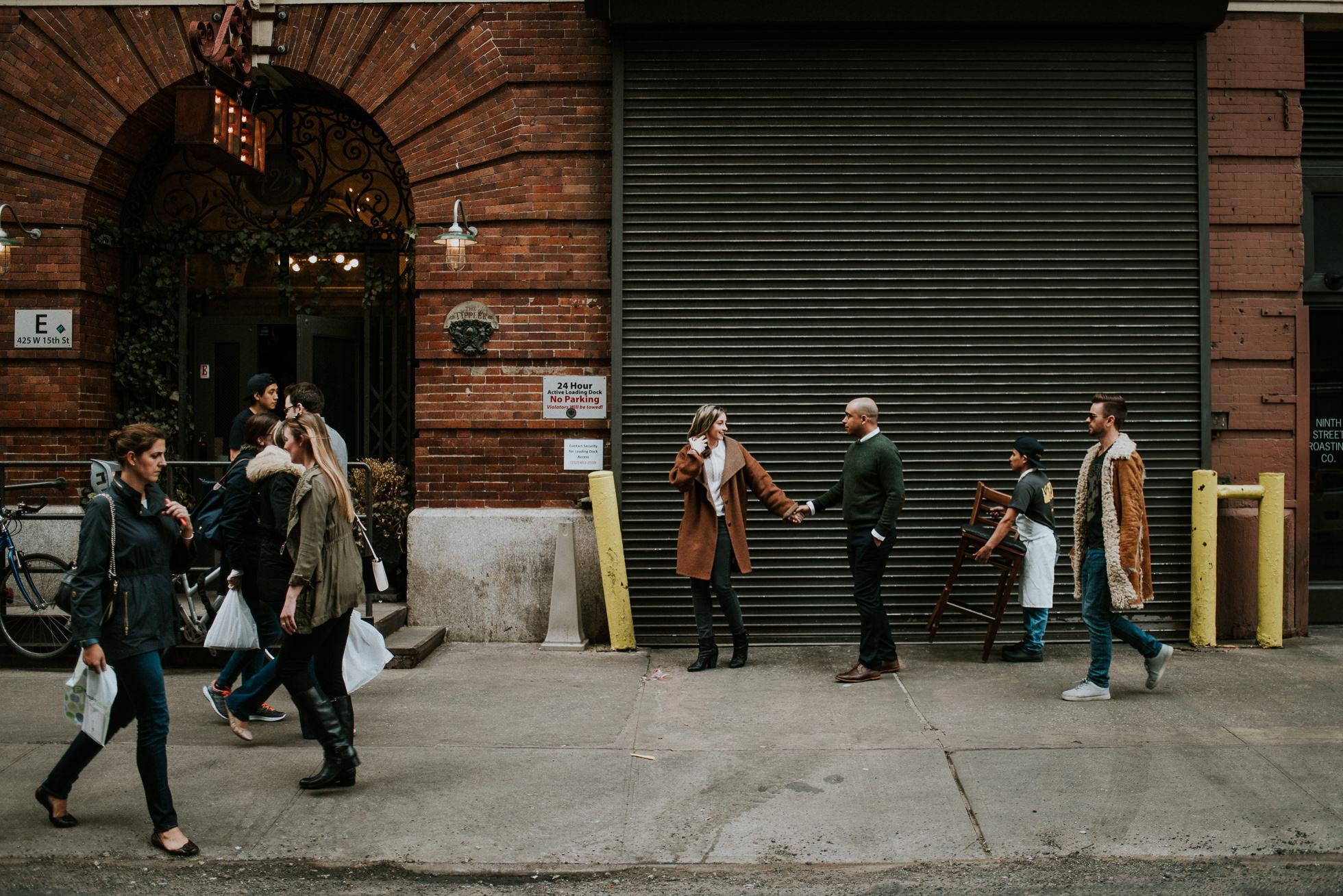 street scene engagement photos