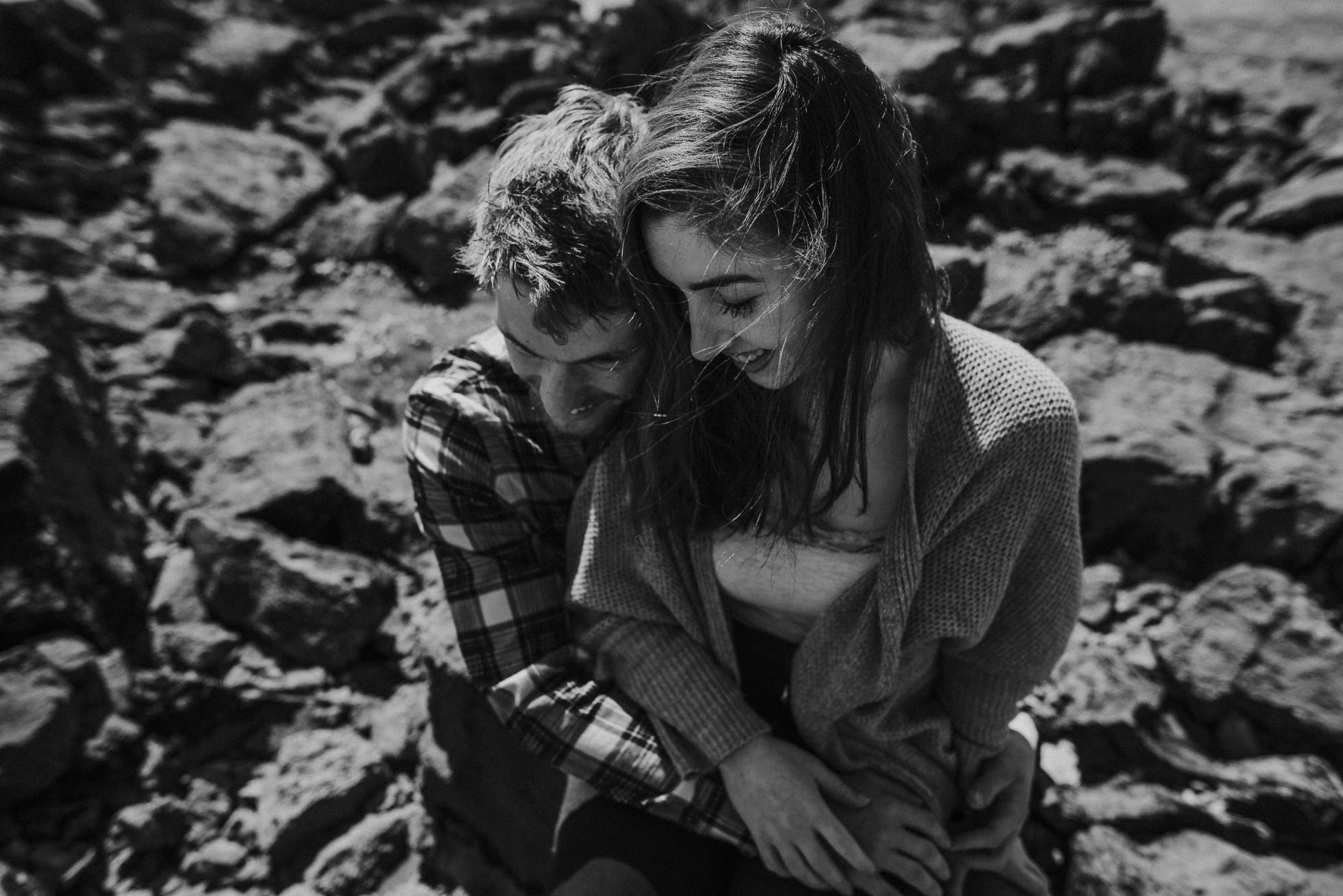 emotional Ireland couple portrait