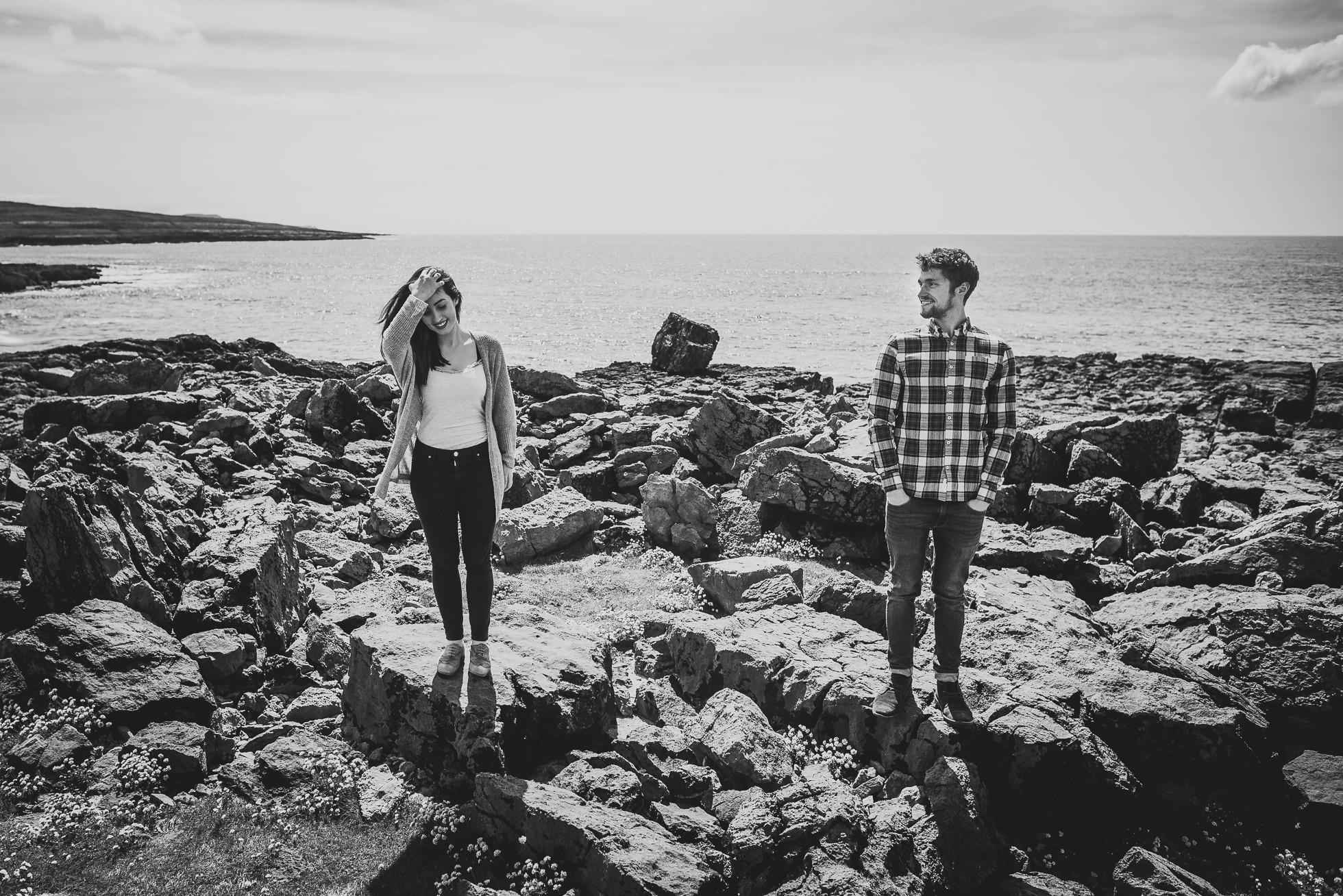Ireland couple portraits monochrome