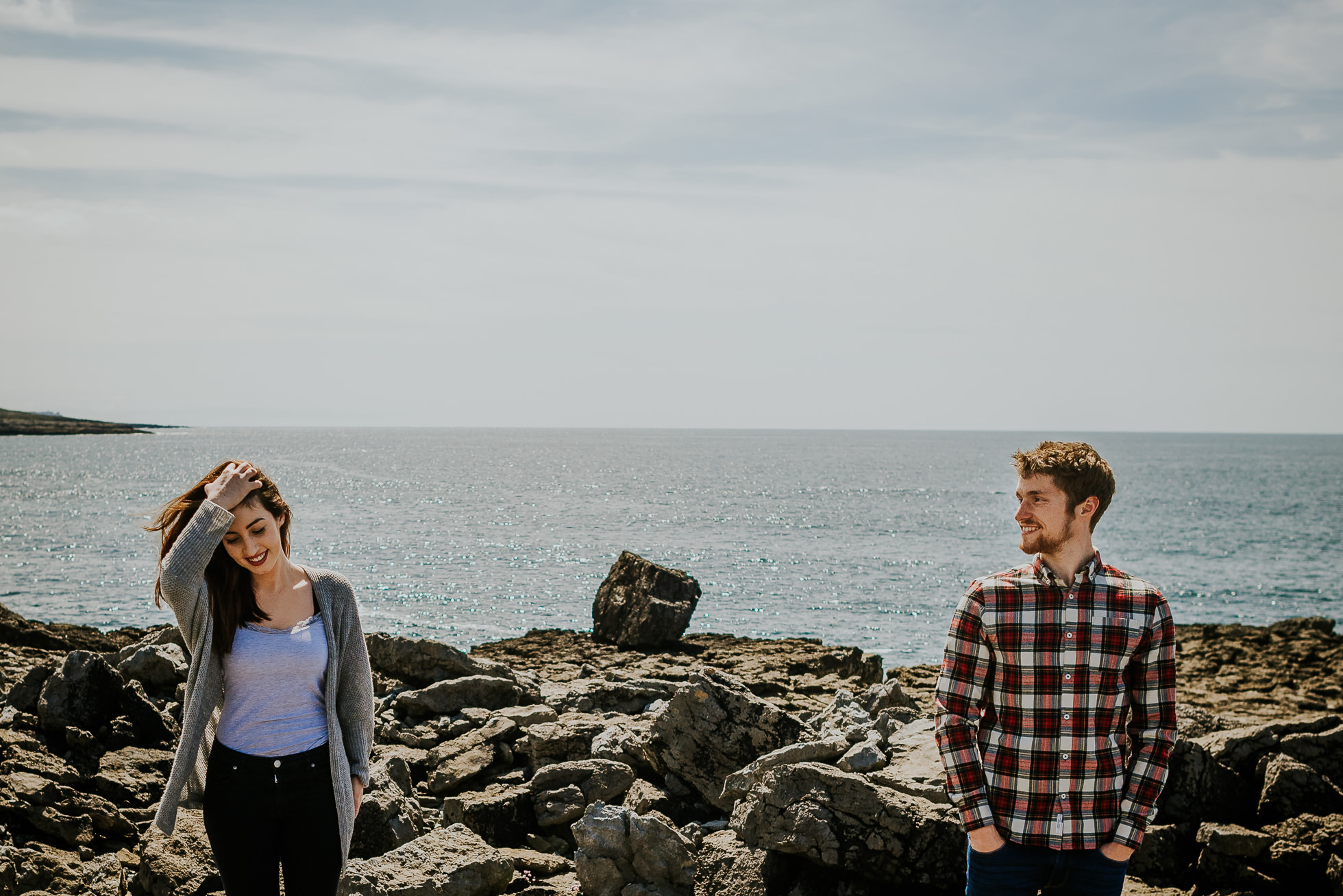 Rocky Irish shore engagement