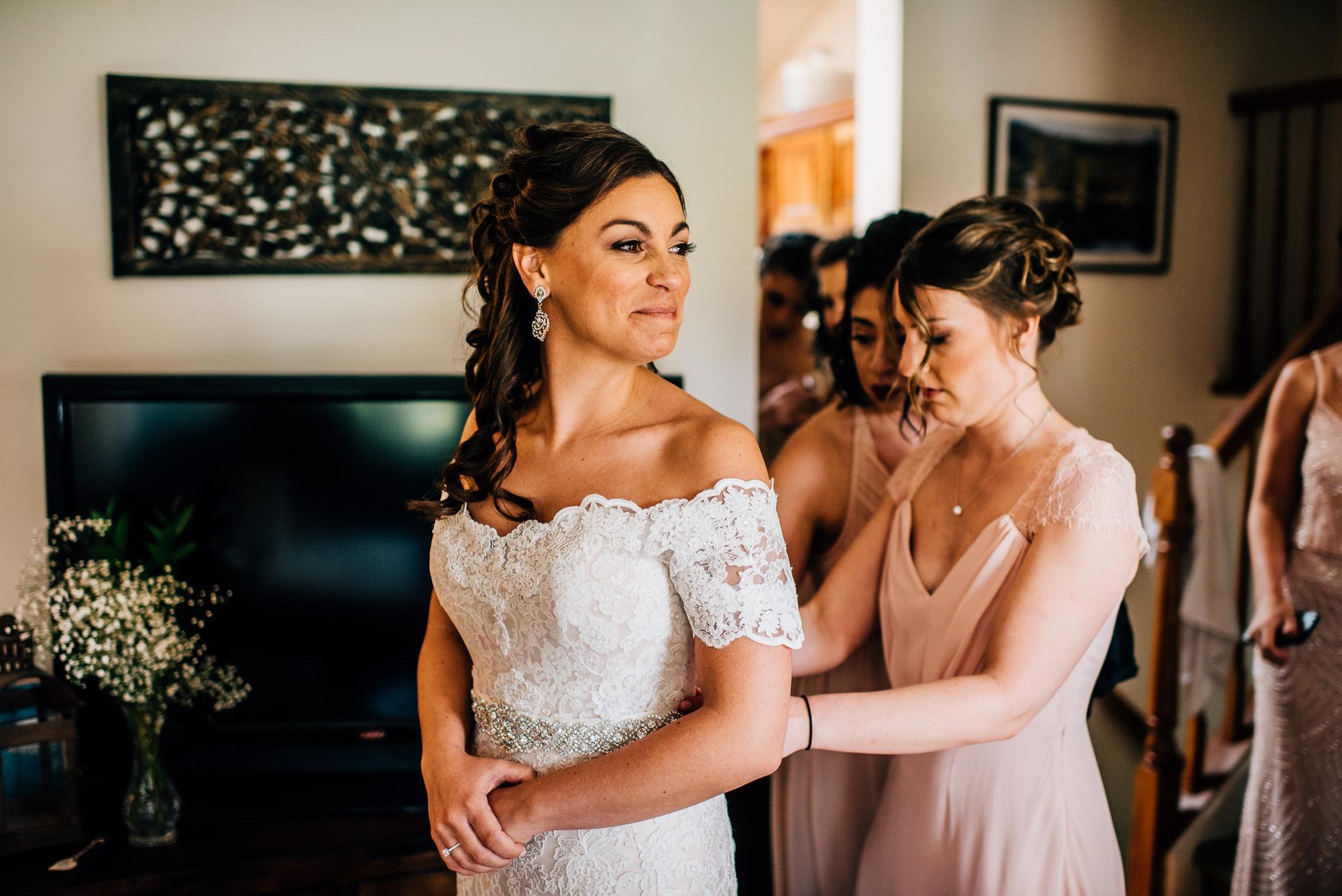 bride and bridesmaids long island