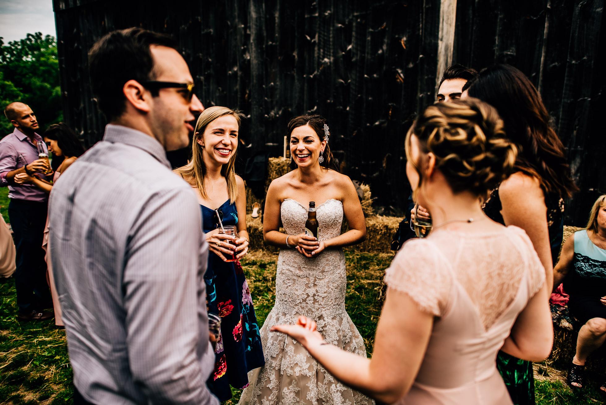 bride cocktail hour