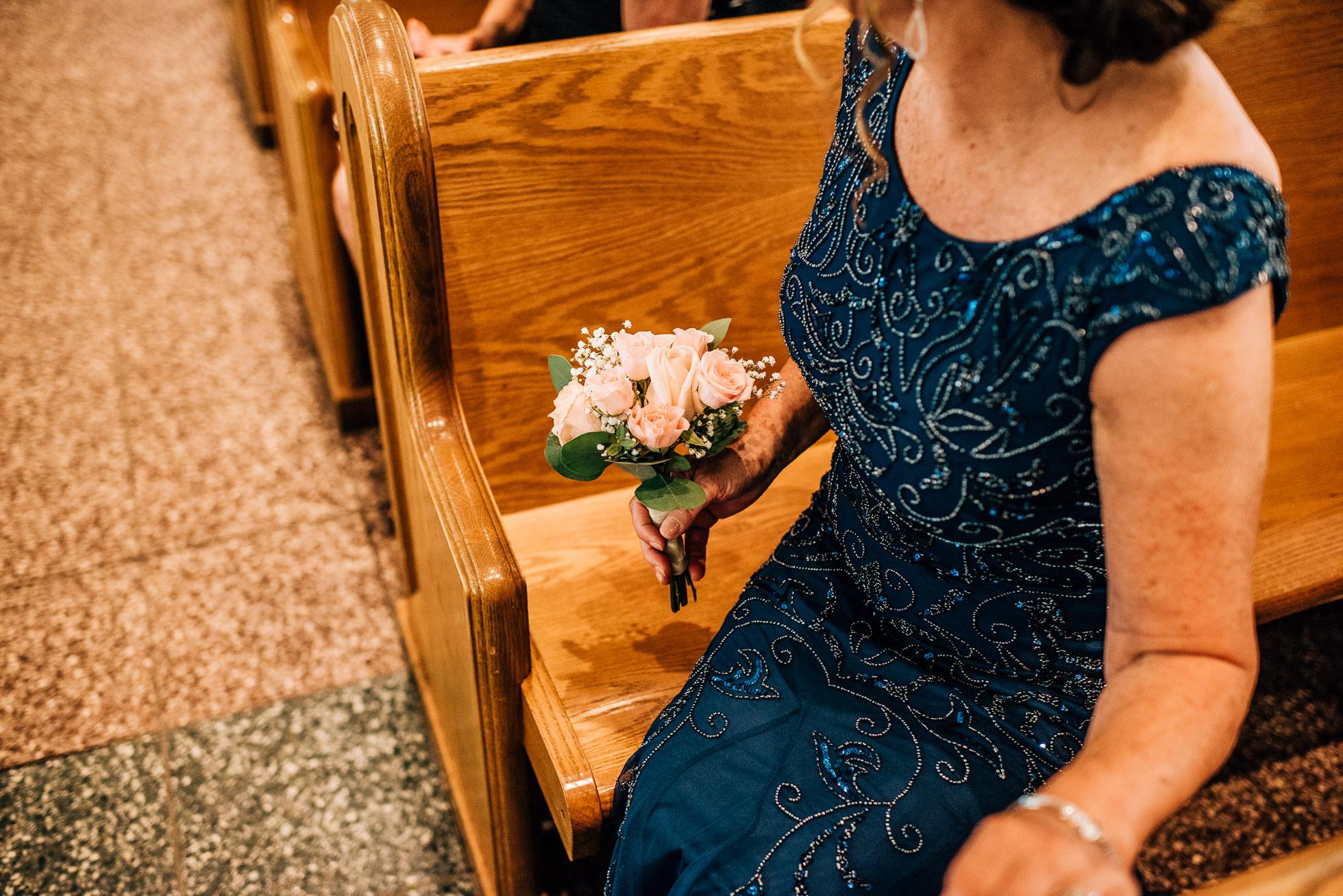 brides mom church wedding