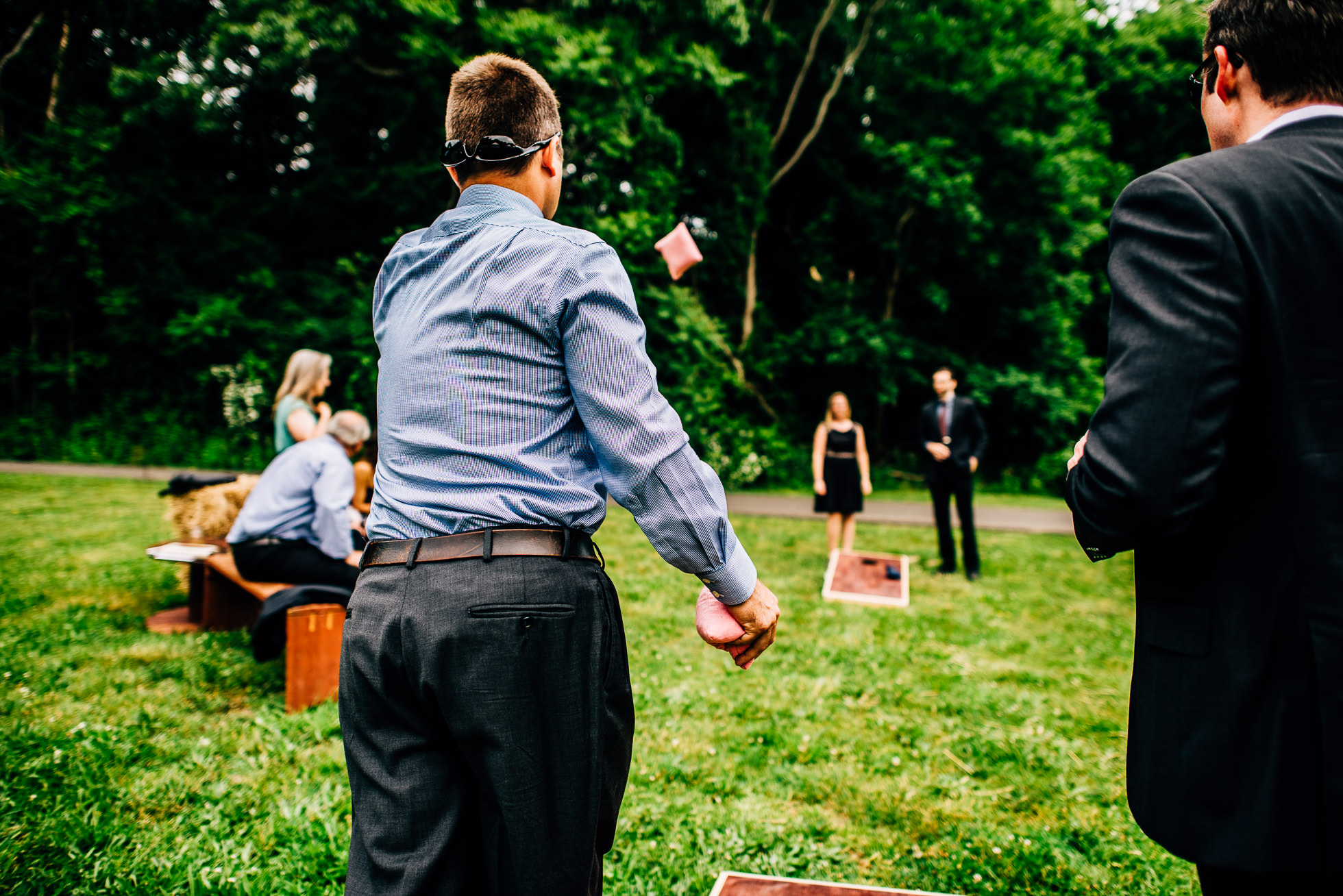 cornhole at weddings