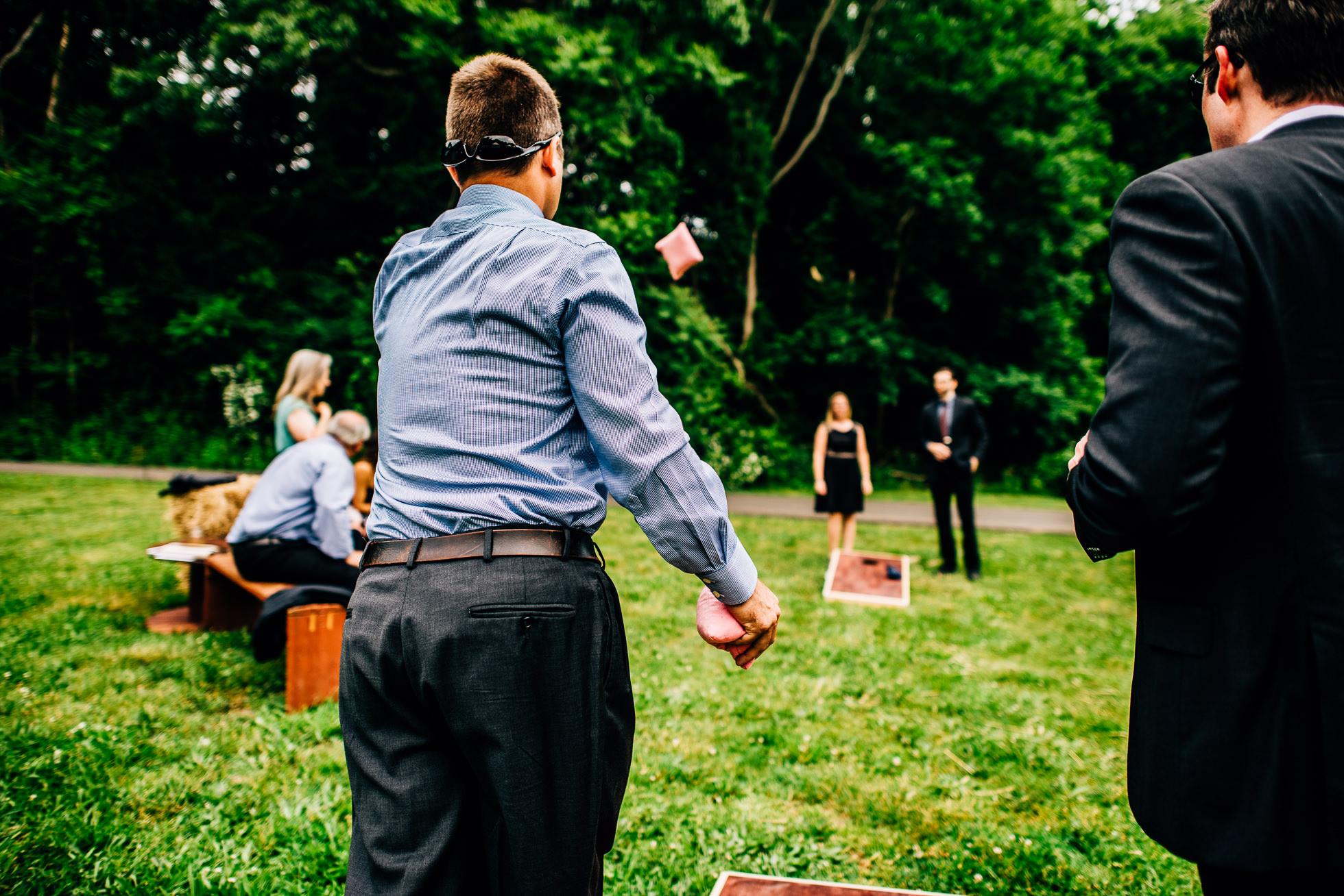 cornhole at weddings