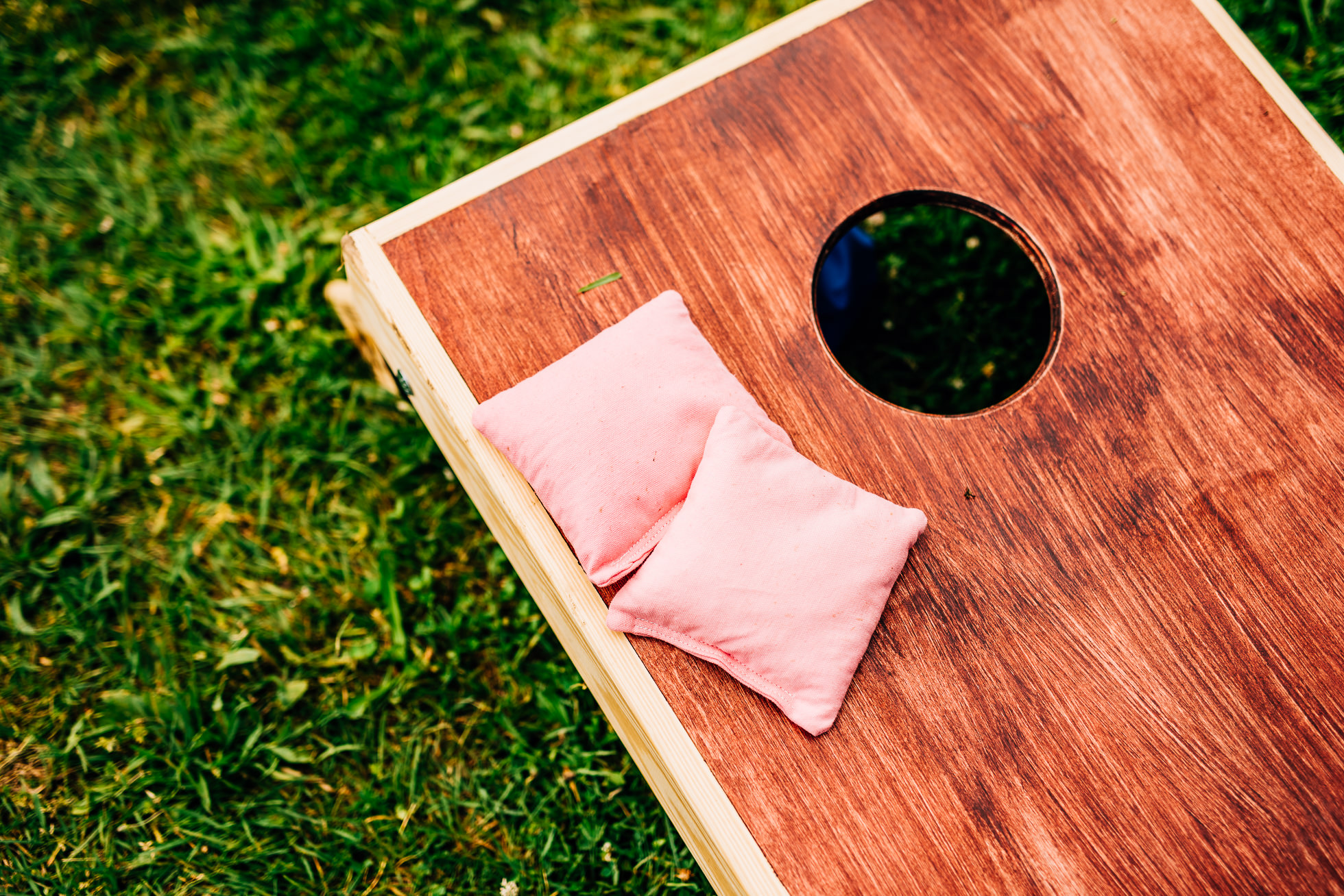 cornhole game wedding
