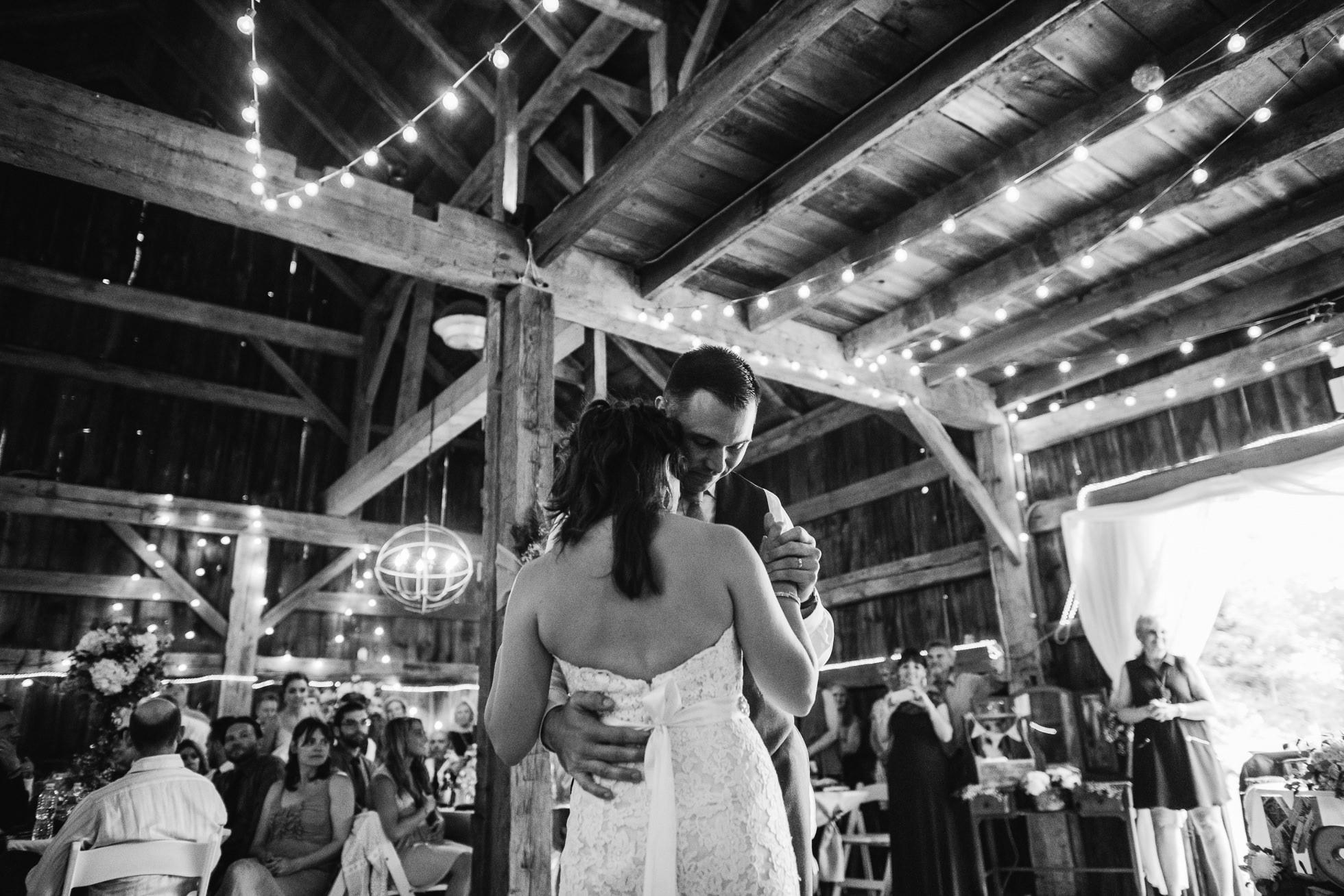 long island barn wedding dancing