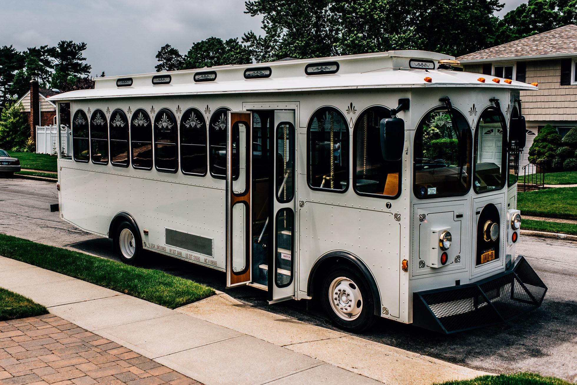 long island wedding trolley