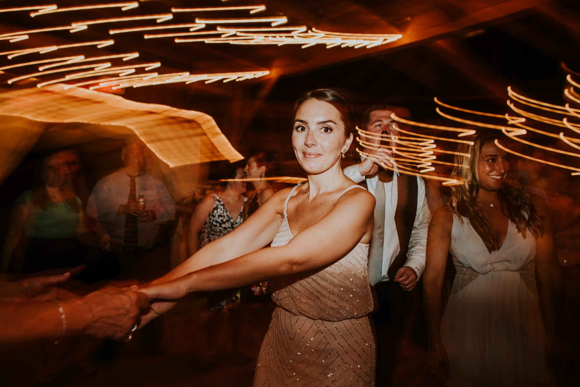 slow shutter wedding