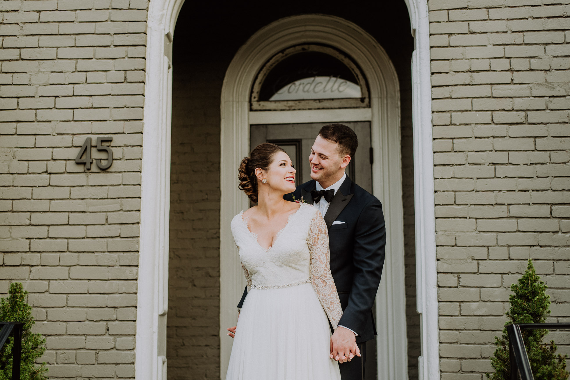 happy bride and groom portrait at the cordelle nashville