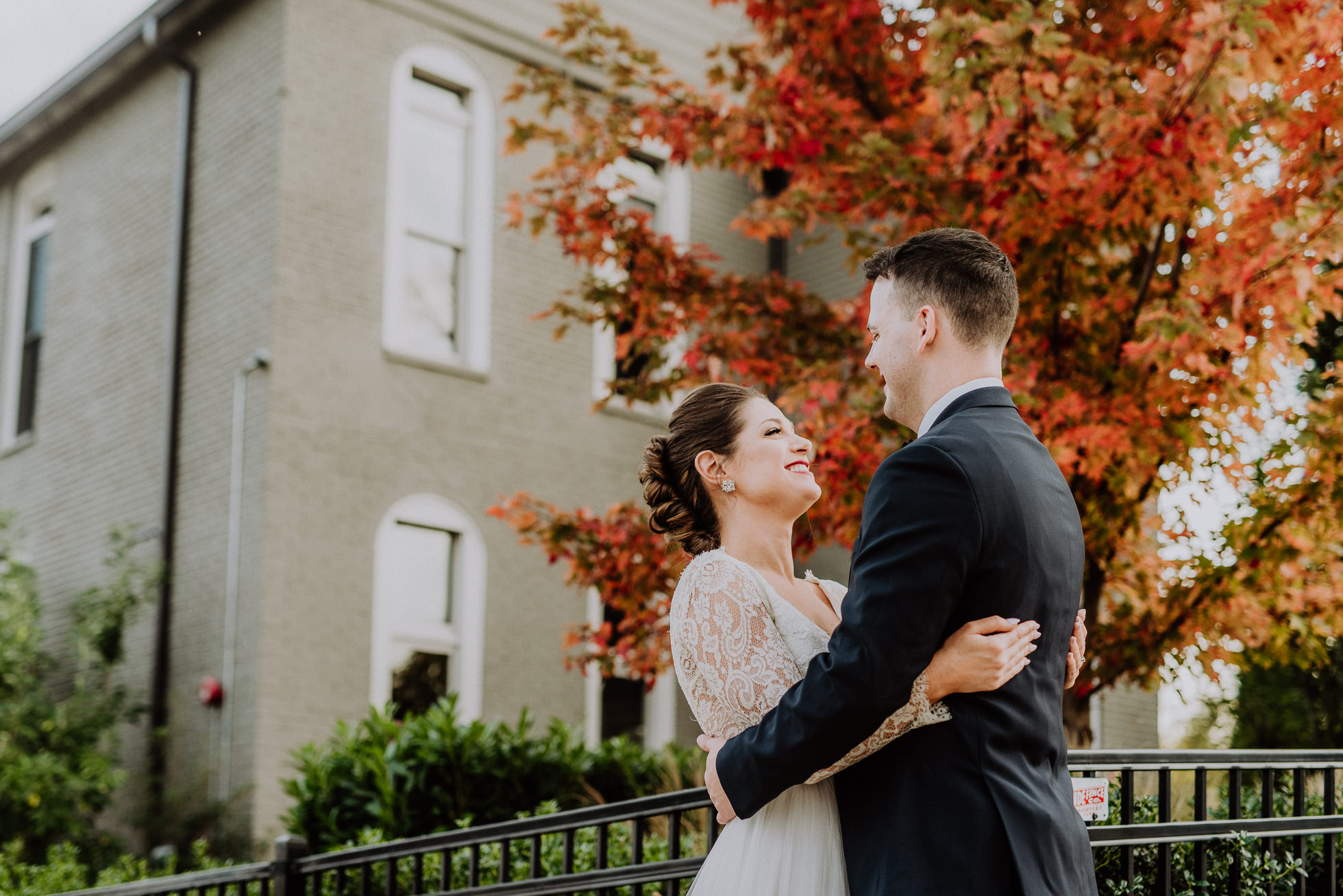 fall colors wedding portrait the cordelle nashville