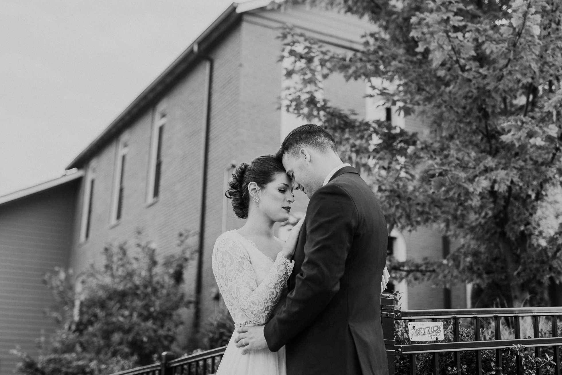 emotional bride and groom at the cordelle nashville wedding