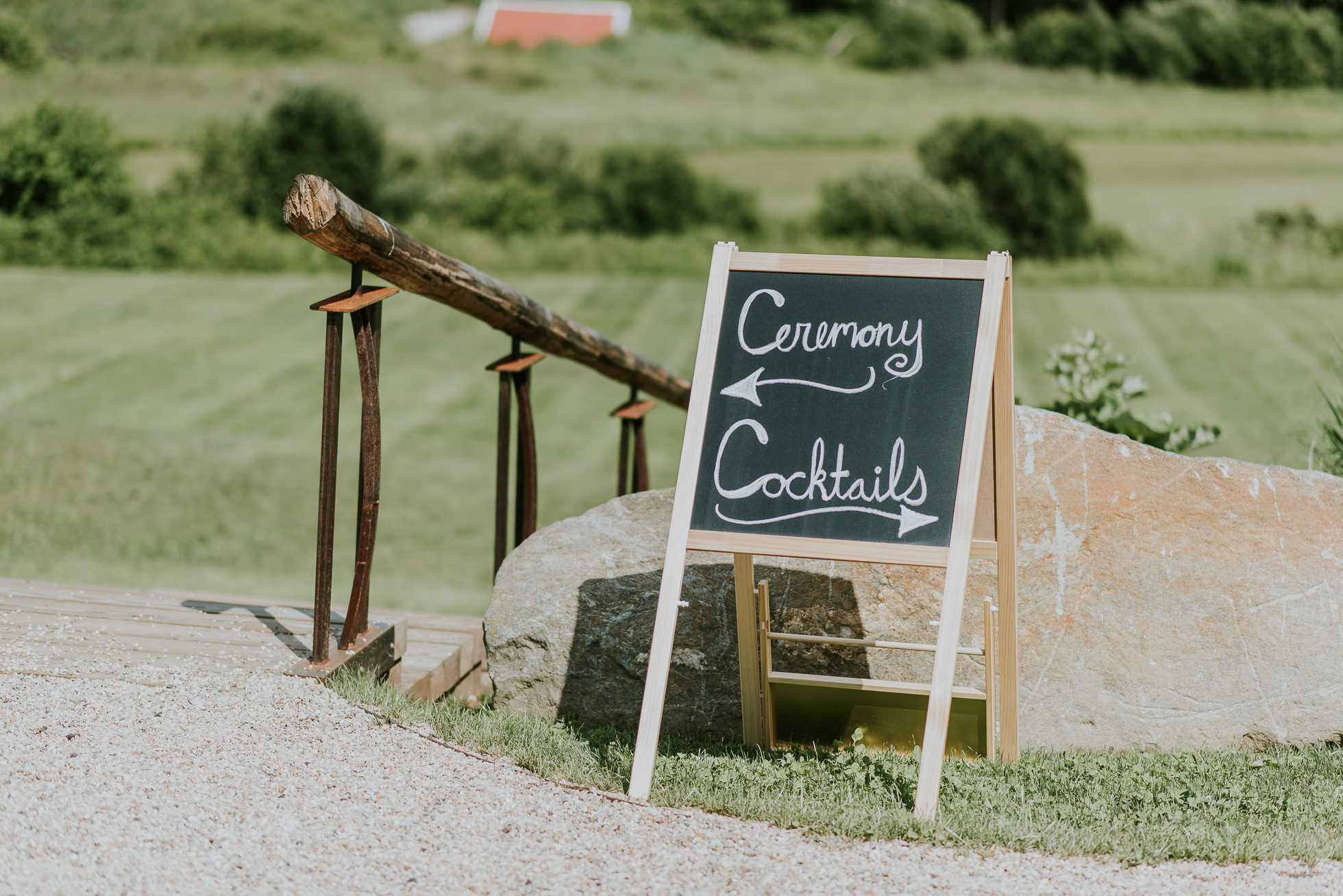 wedding ceremony sign photographed by Traverse the Tides