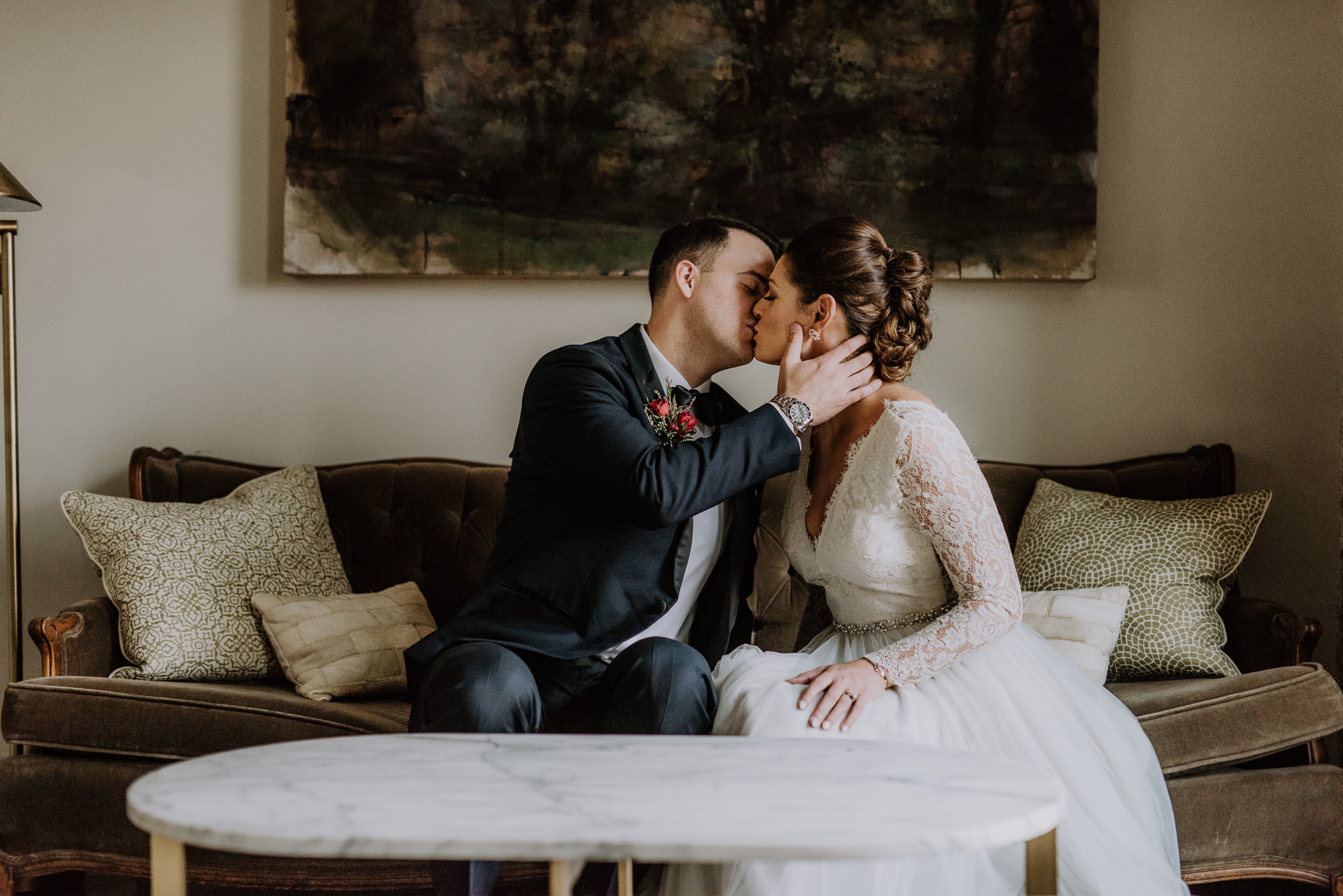 moody nashville wedding portraits at the cordelle
