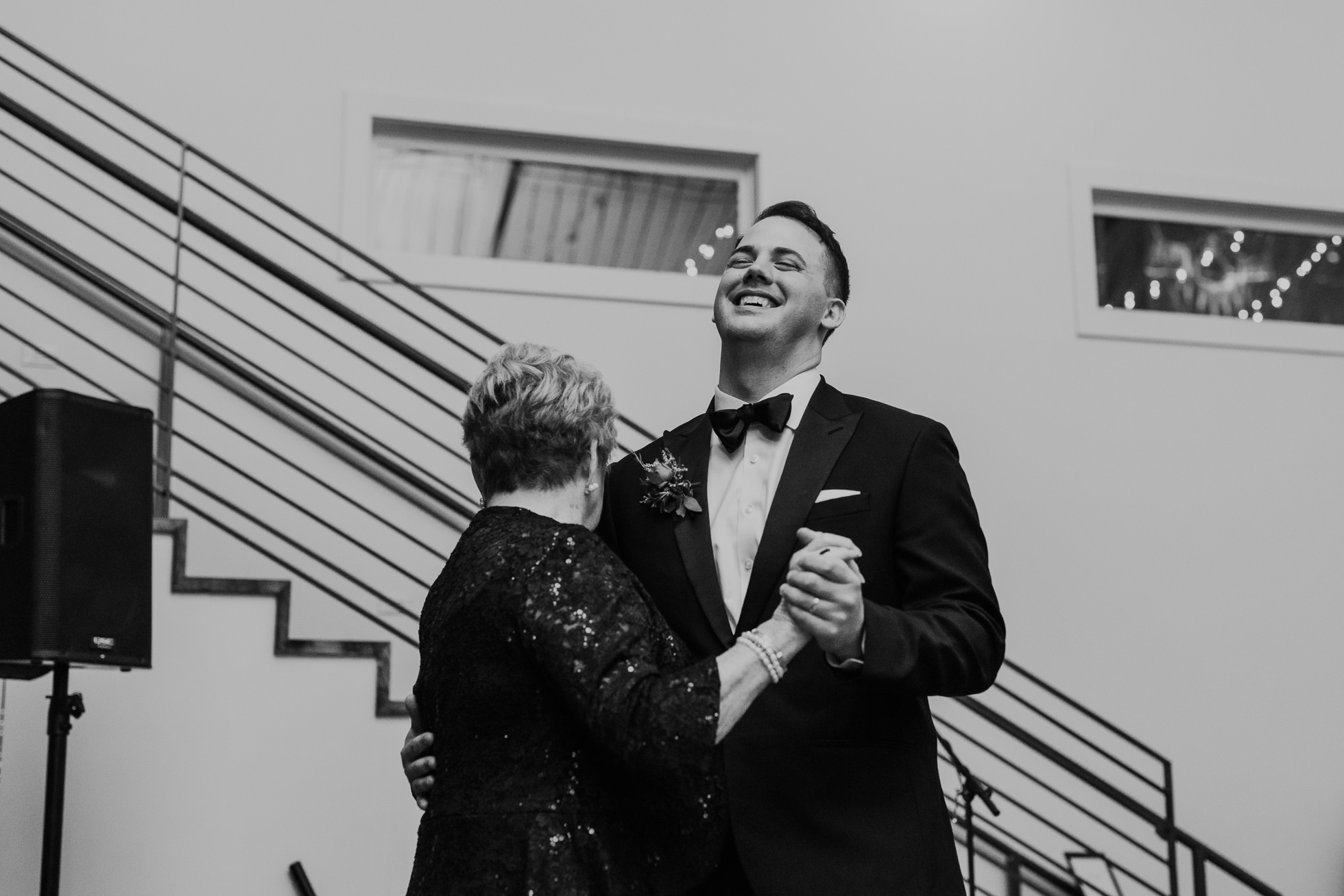 groom and grandmother dance at the cordelle wedding reception