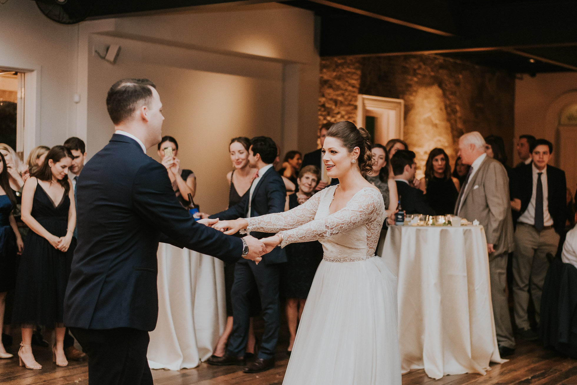 bride and groom first dance at the cordelle wedding