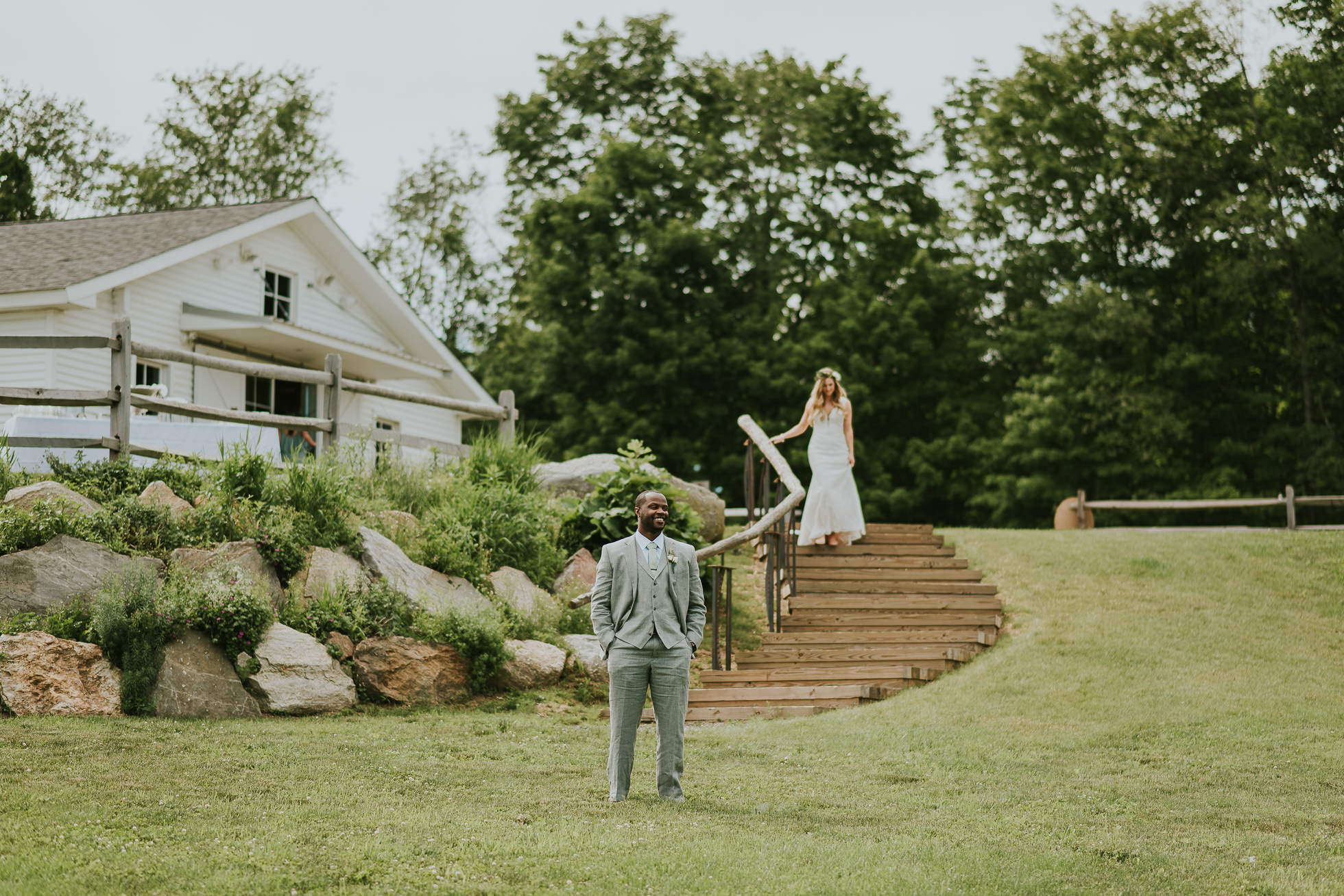 first look South Farms wedding photographed by Traverse the Tides