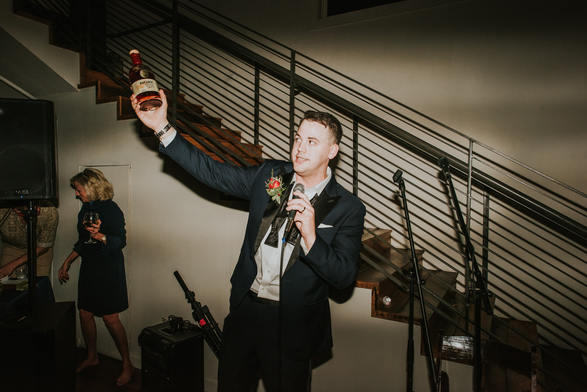 rum shots at wedding reception at the cordelle nashville wedding