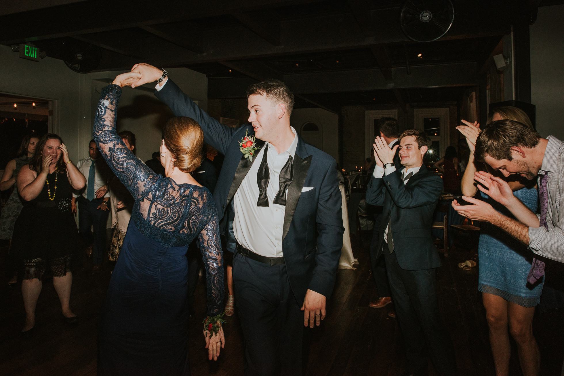 groom dancing with mom at wedding reception at the cordelle nashville wedding