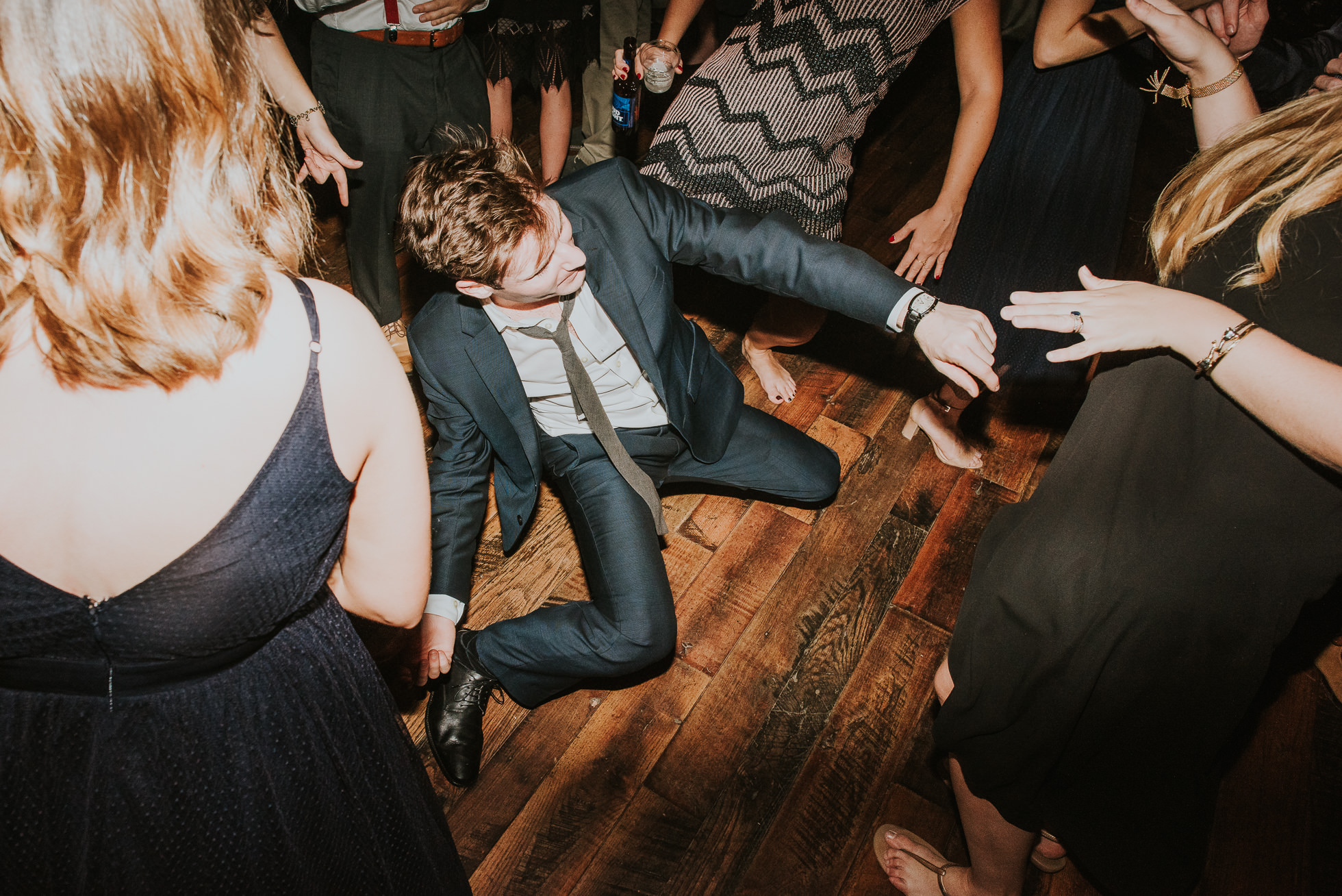 wild man dancing low at wedding reception at the cordelle nashville wedding