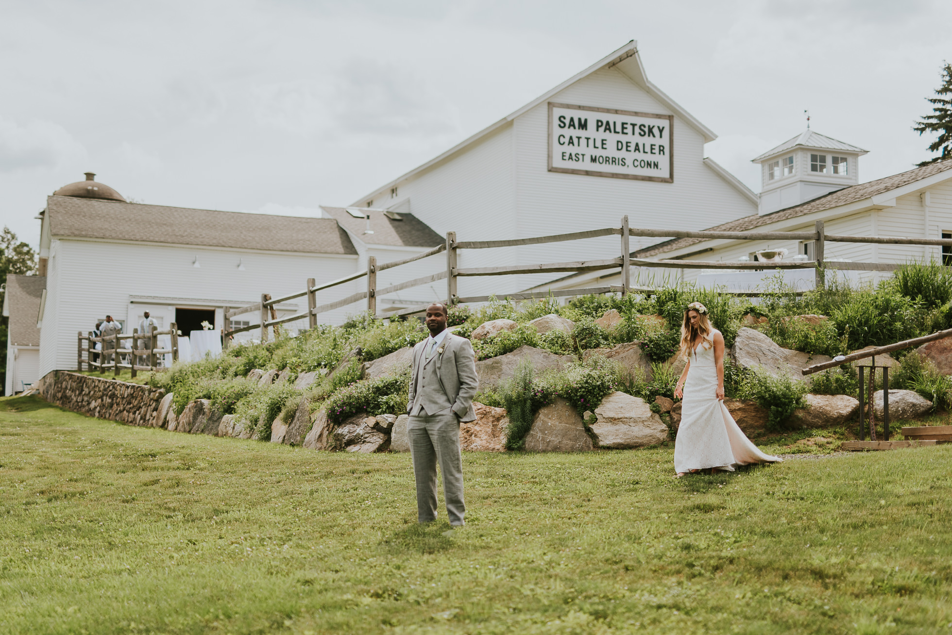 first look rustic wedding photographed by Traverse the Tides