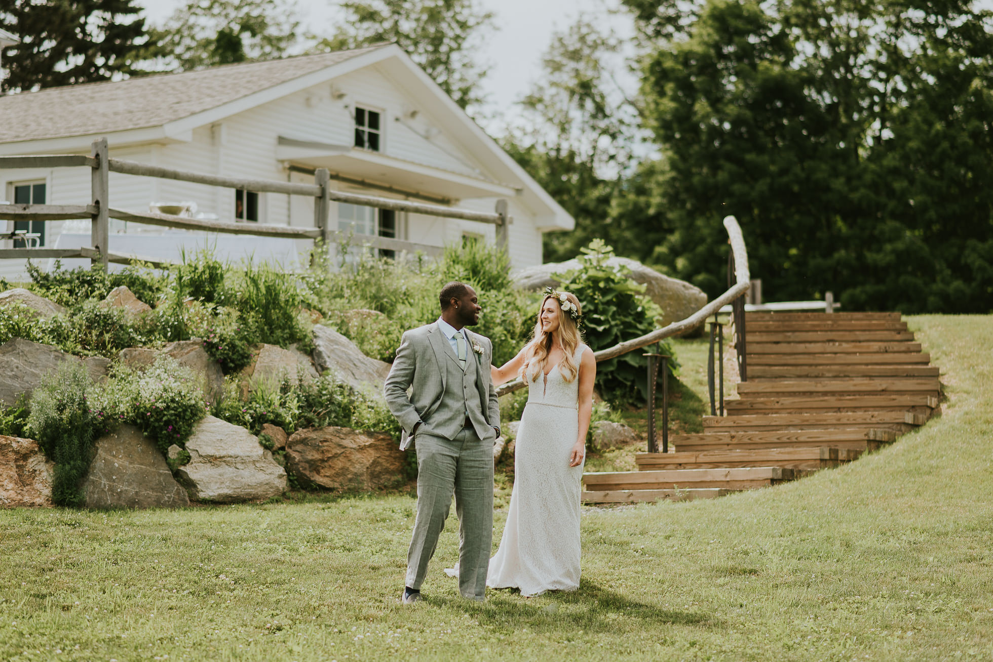 first look country wedding photographed by Traverse the Tides
