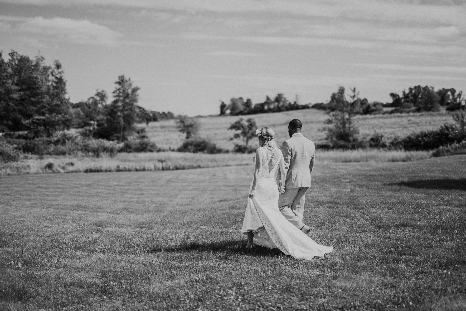 bride and groom farm photos photographed by Traverse the Tides