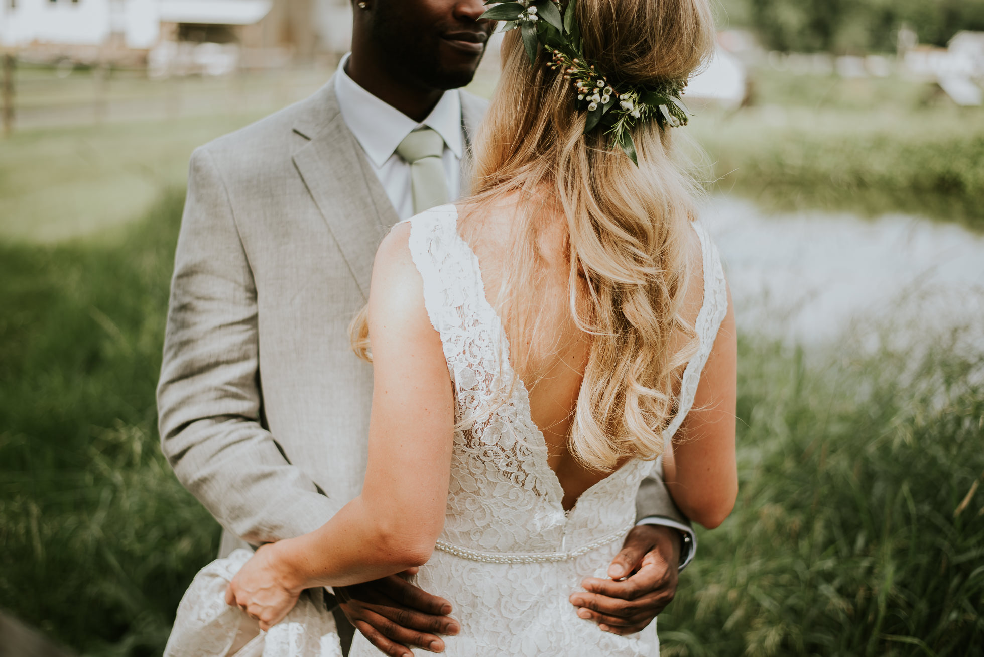 bride flower crown photographed by Traverse the Tides