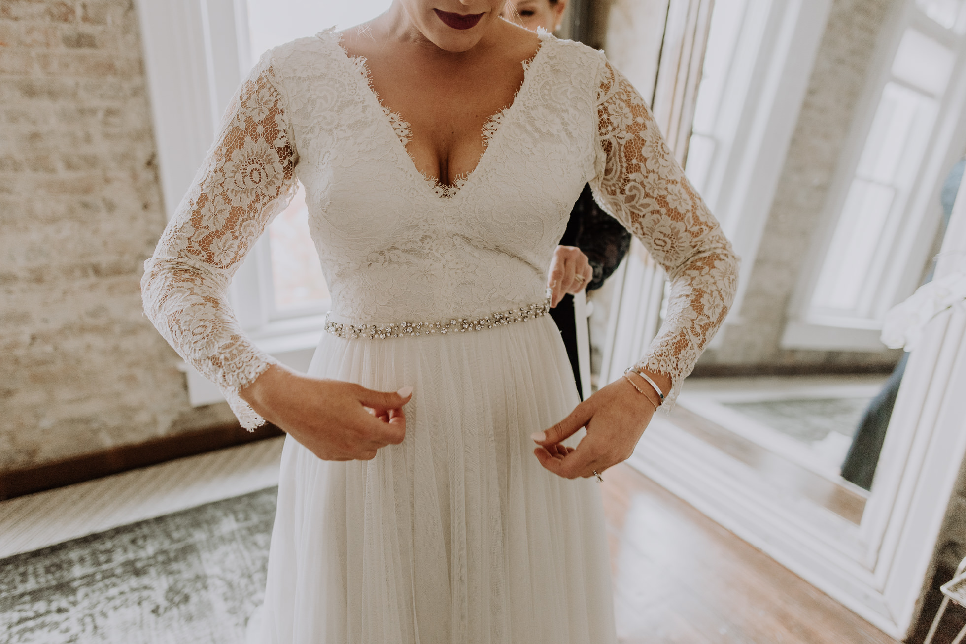 lace sleeves bride dress nashville wedding