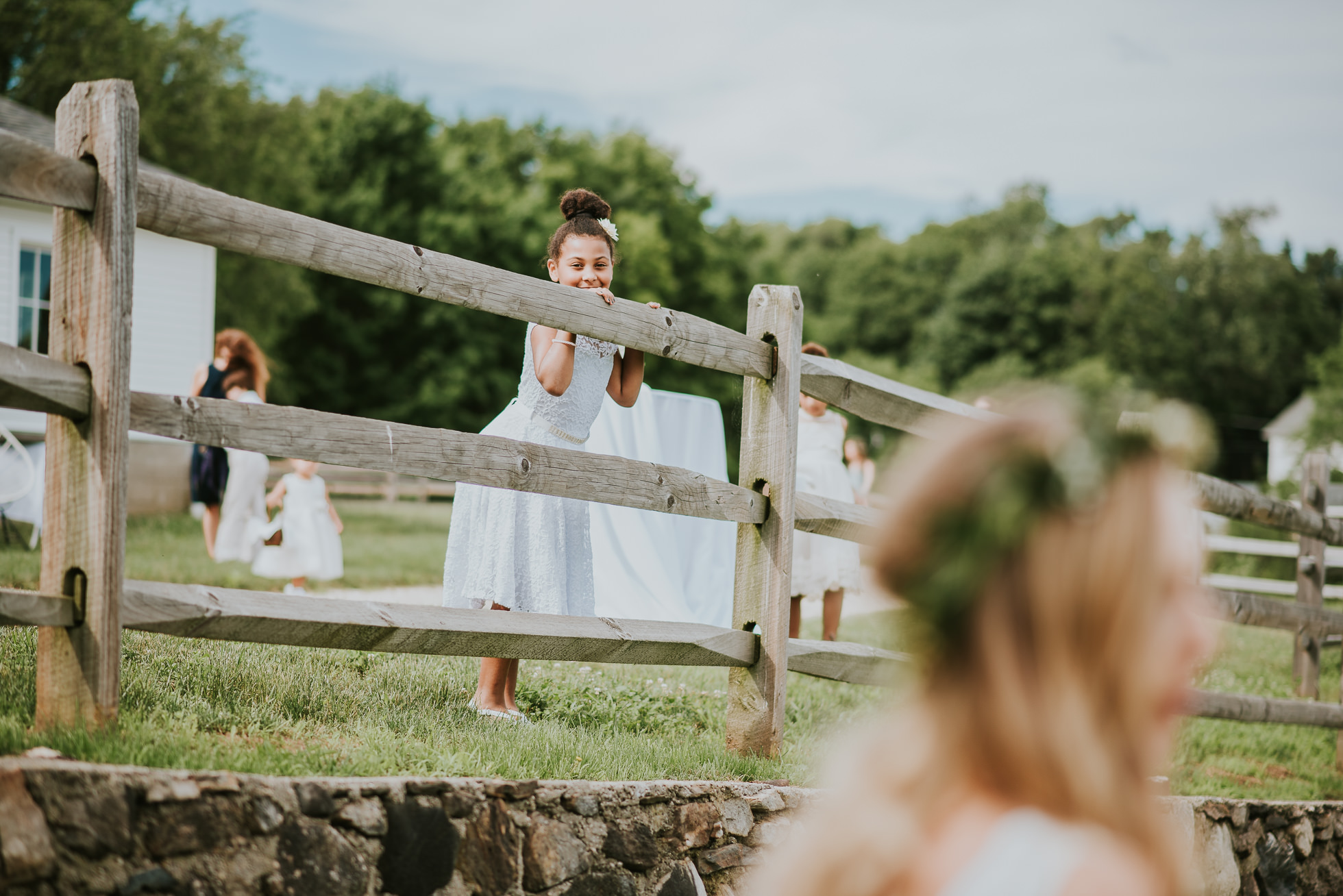 rustic flower girl wedding photos photographed by Traverse the Tides