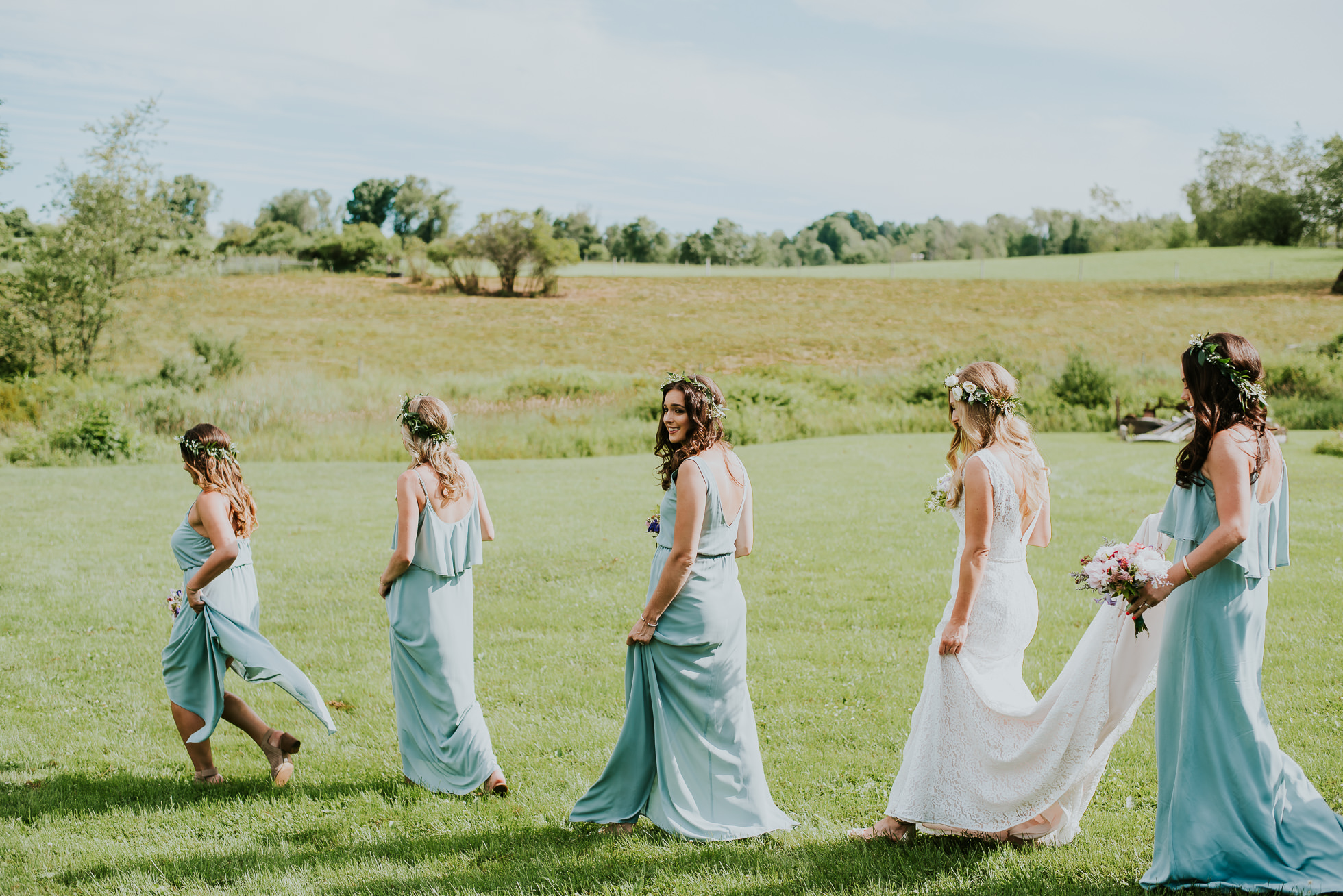 bridesmaids South Farms wedding photographed by Traverse the Tides