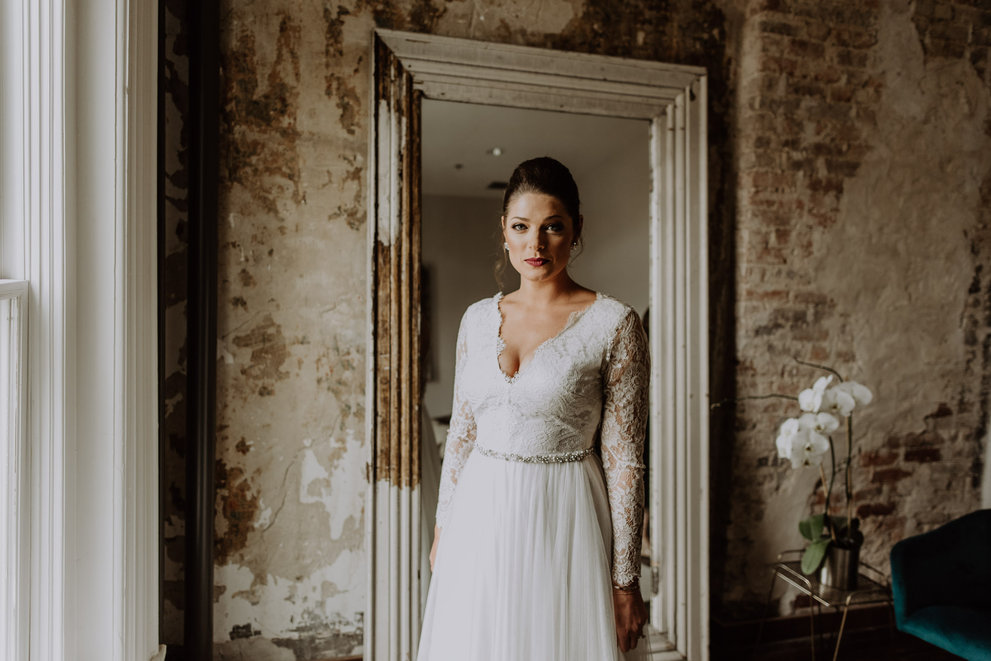 dramatic bridal portrait the cordelle nashville wedding