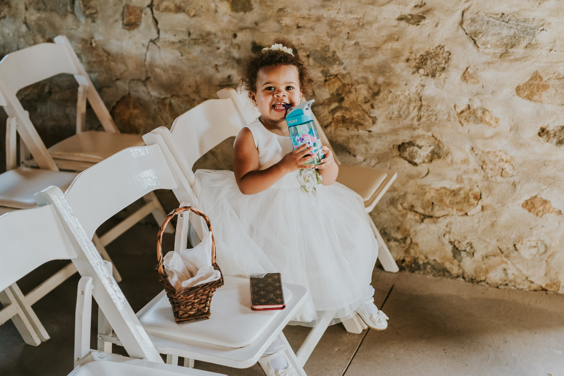 rustic flower girl dress photographed by Traverse the Tides