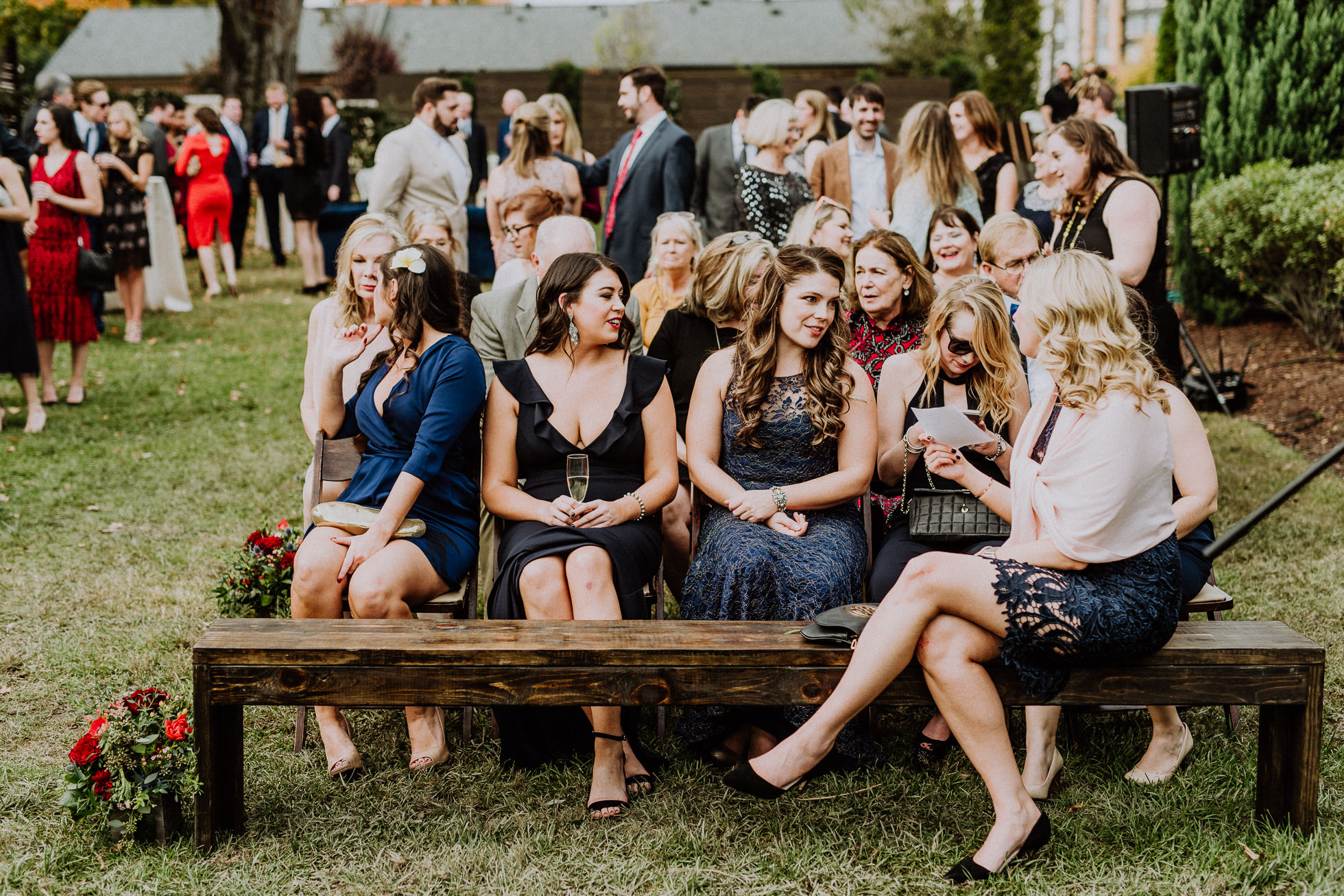guests at outdoor ceremony the cordelle nashville wedding