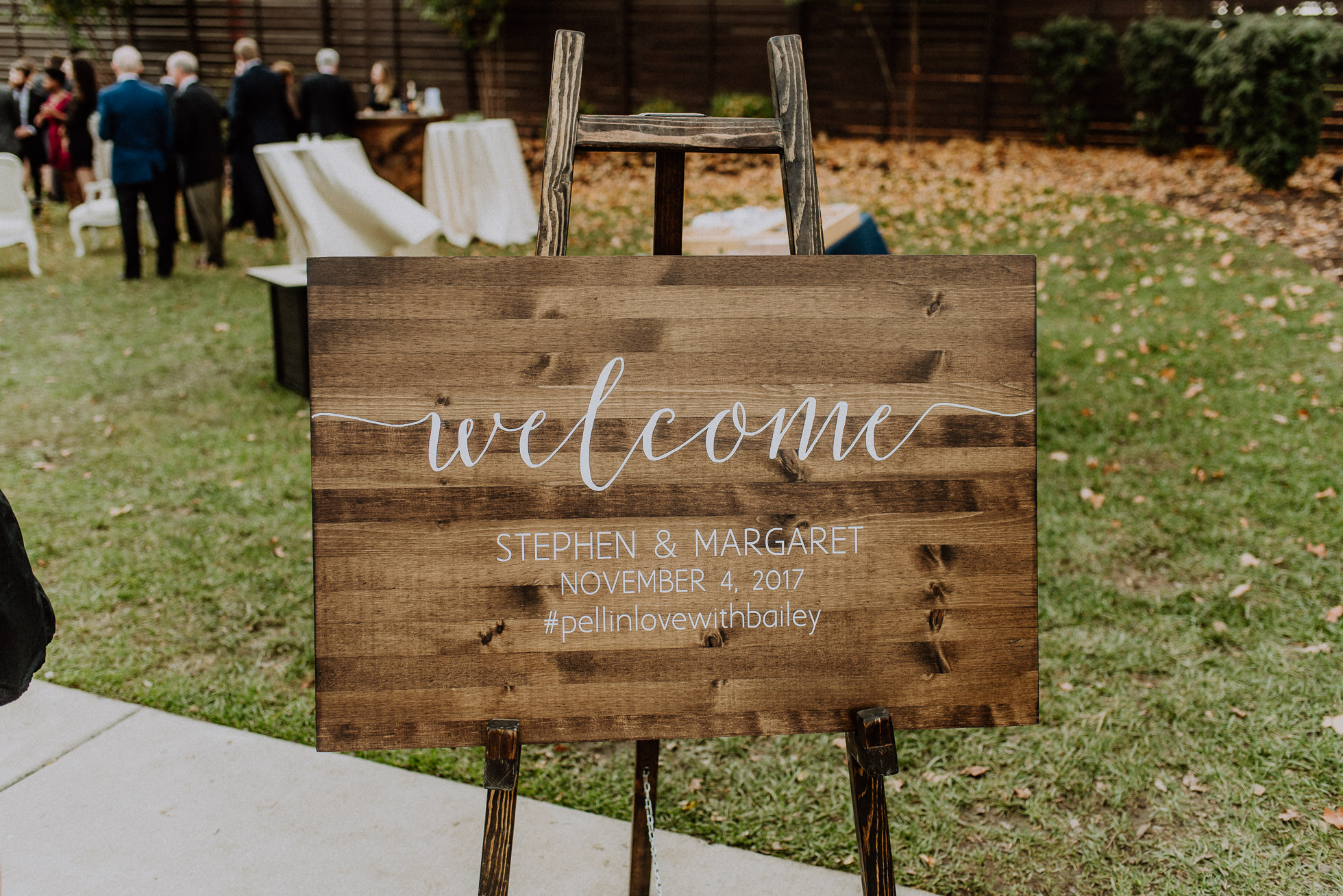 wedding welcome sign the cordelle nashville wedding