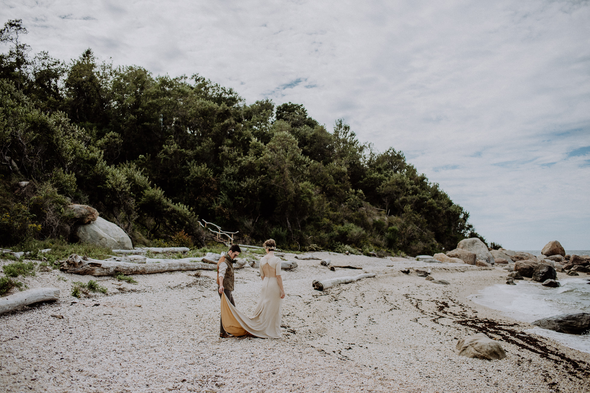 67 steps beach wedding portraits