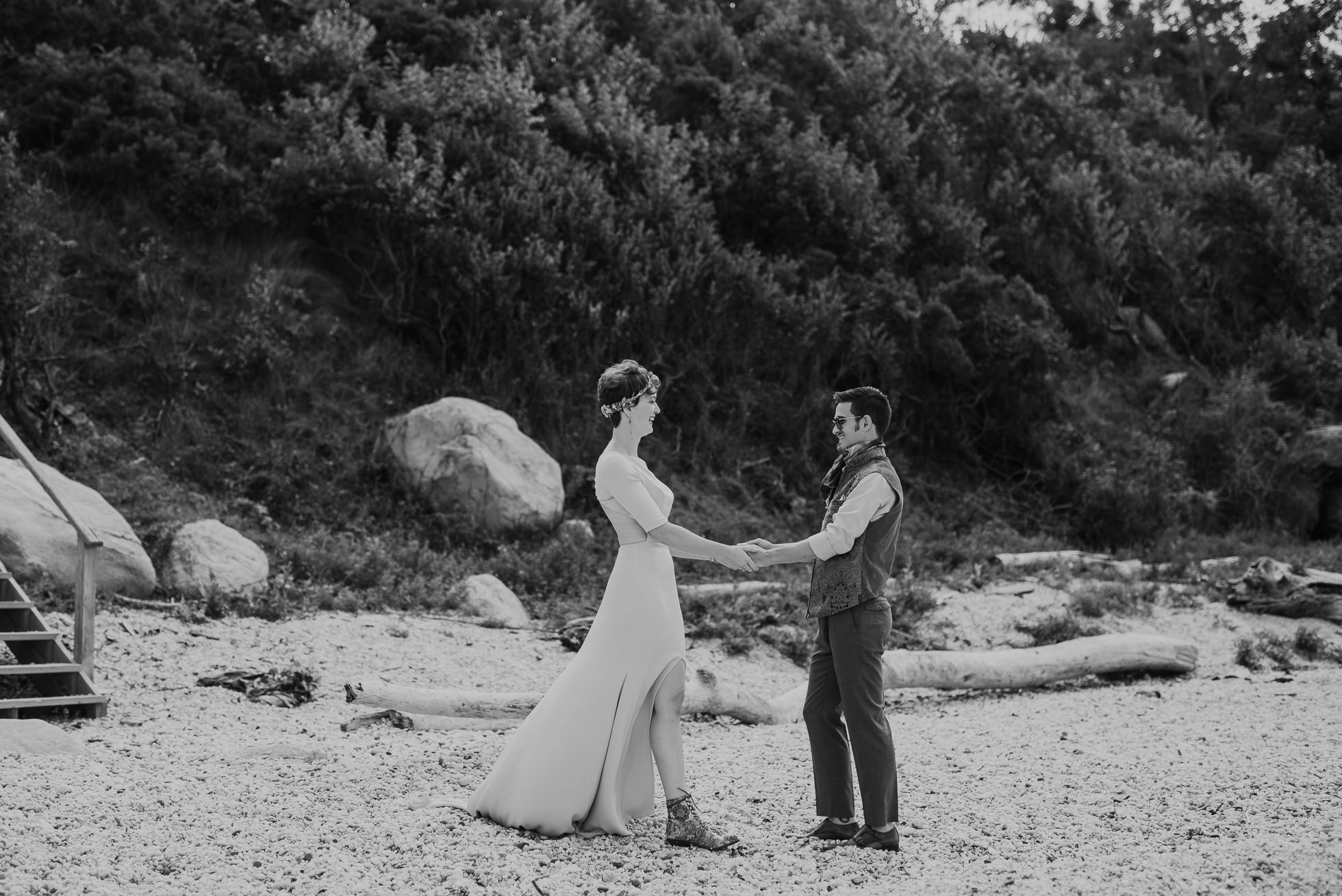 67 steps beach wedding