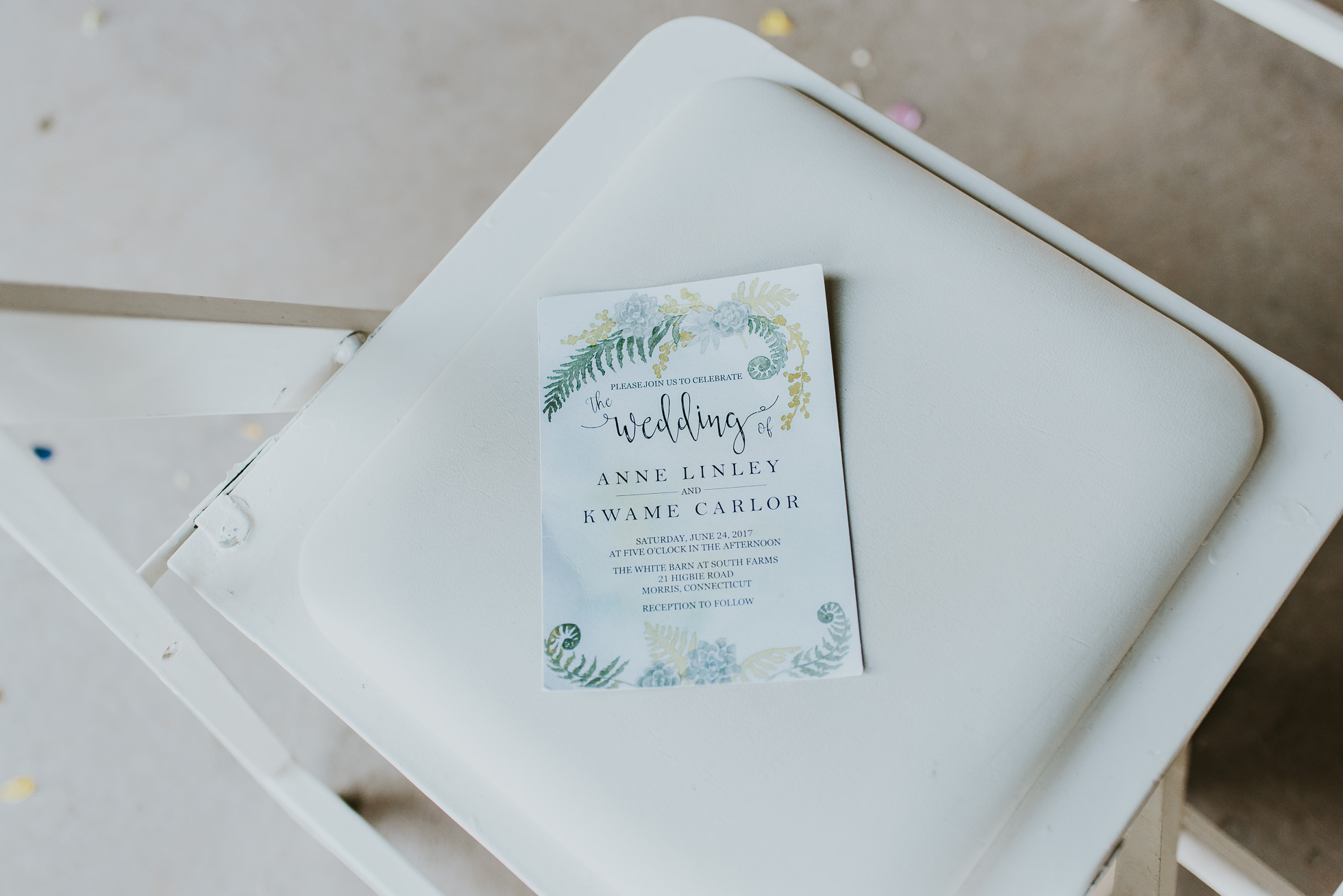 rustic wedding program photographed by Traverse the Tides