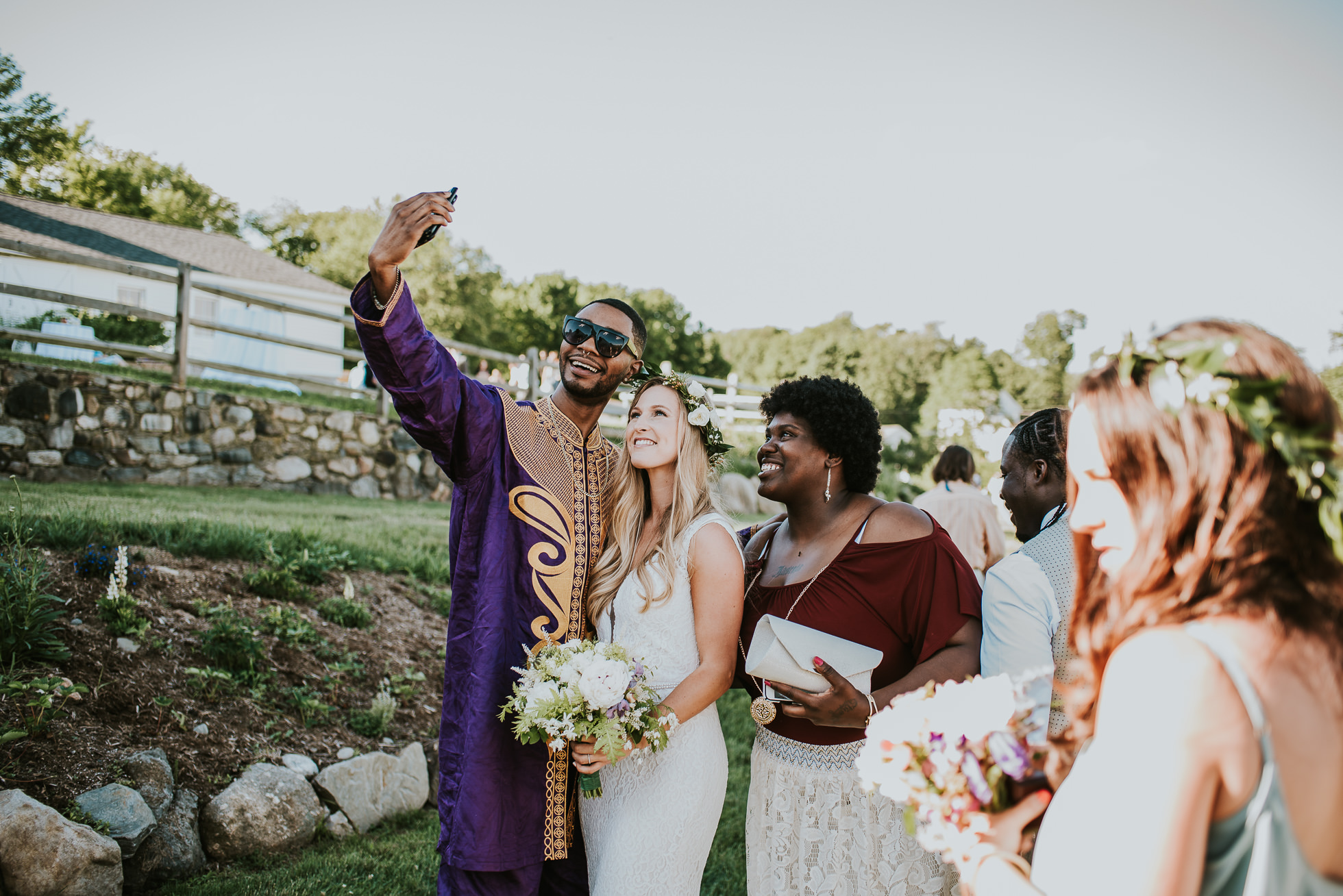 wedding selfies photographed by Traverse the Tides