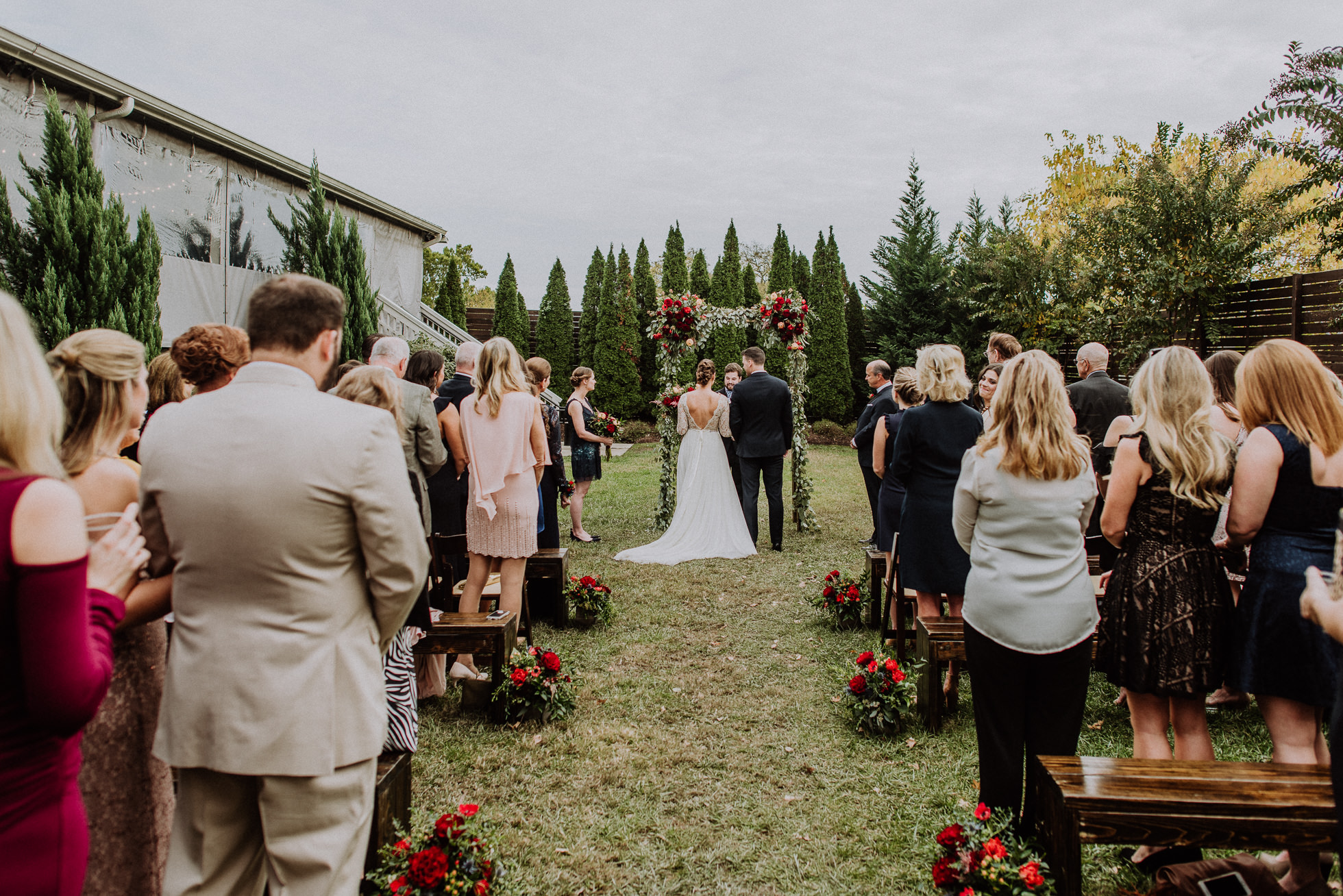 outdoor wedding ceremony at the cordelle nashville