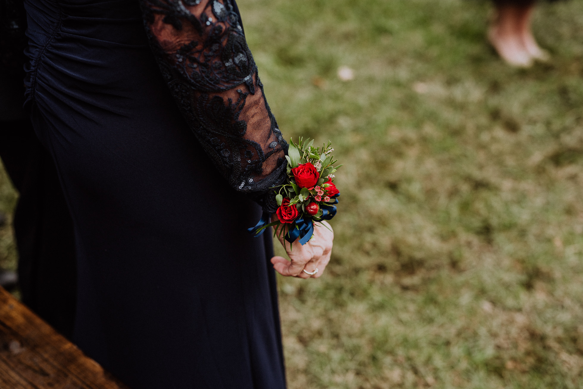 mother of the bride floral corsage