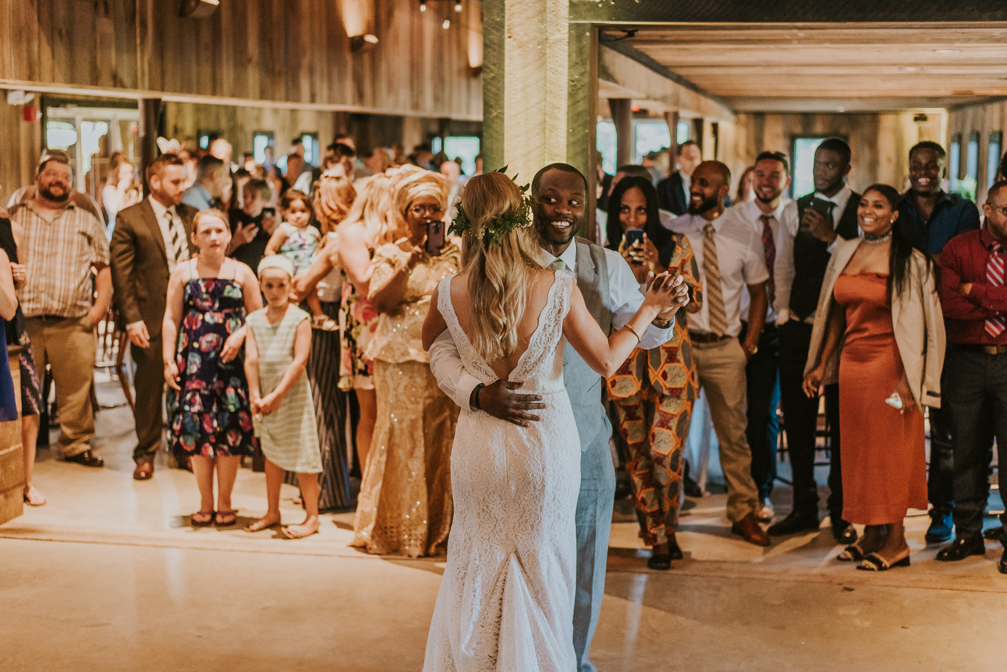 bride and groom first dance photographed by Traverse the Tides