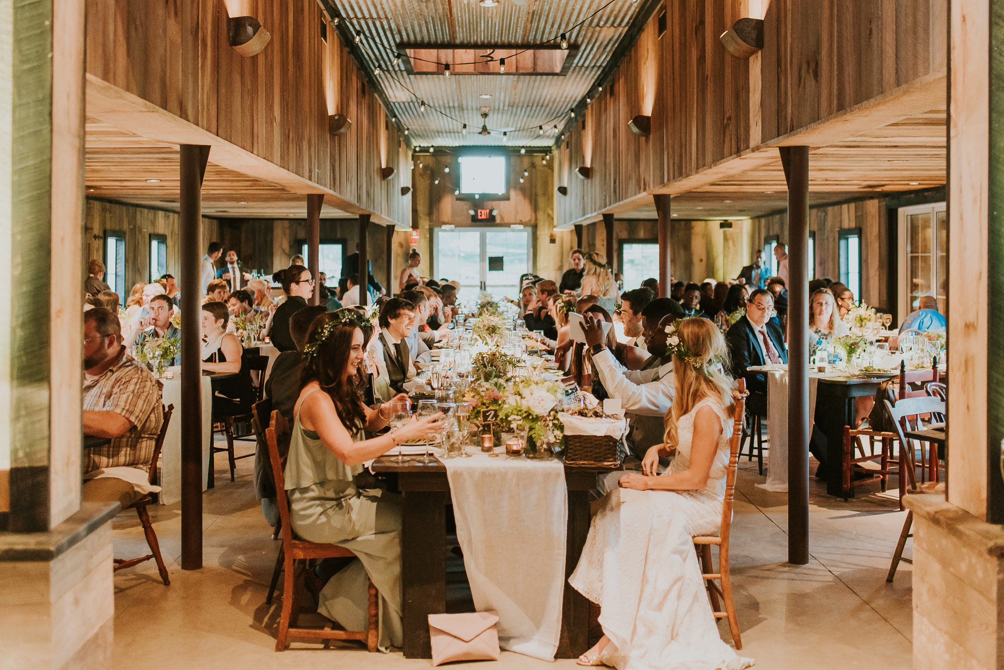 rustic wedding reception photos photographed by Traverse the Tides