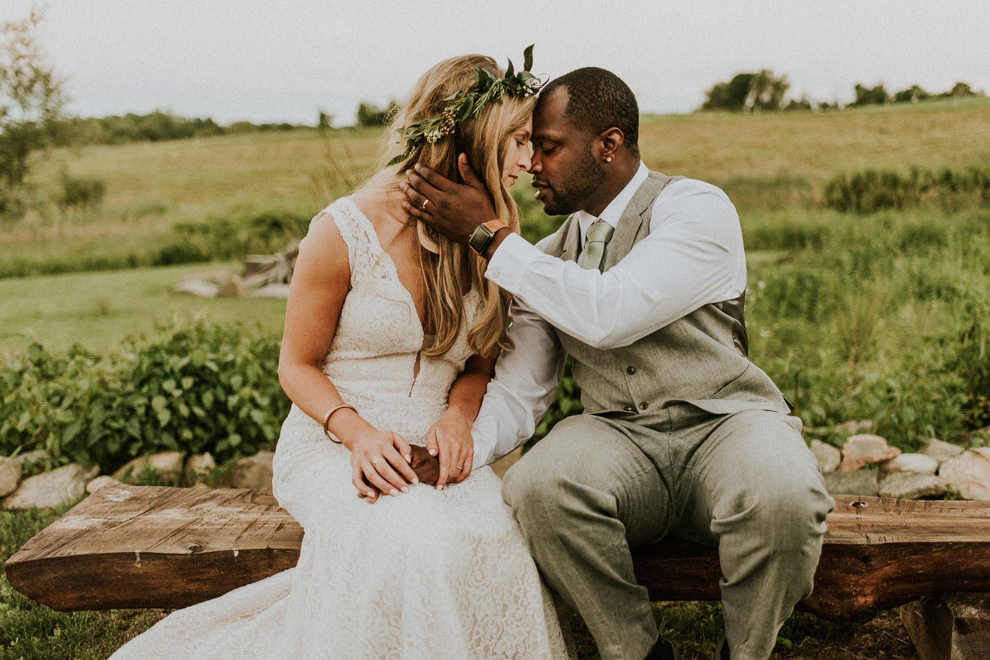 romantic farm wedding photos photographed by Traverse the Tides
