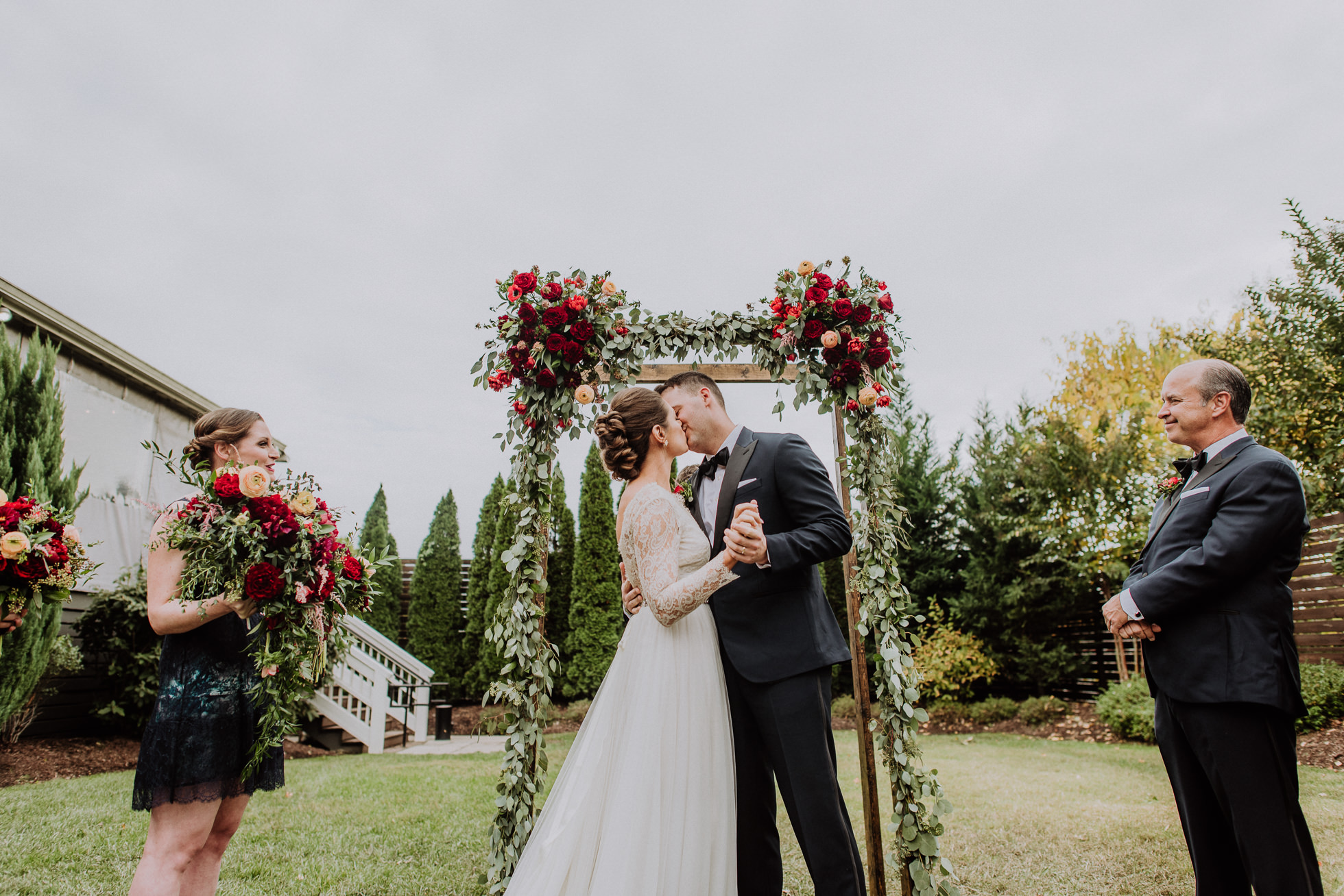 first kiss outdoor ceremony at the cordelle nashville