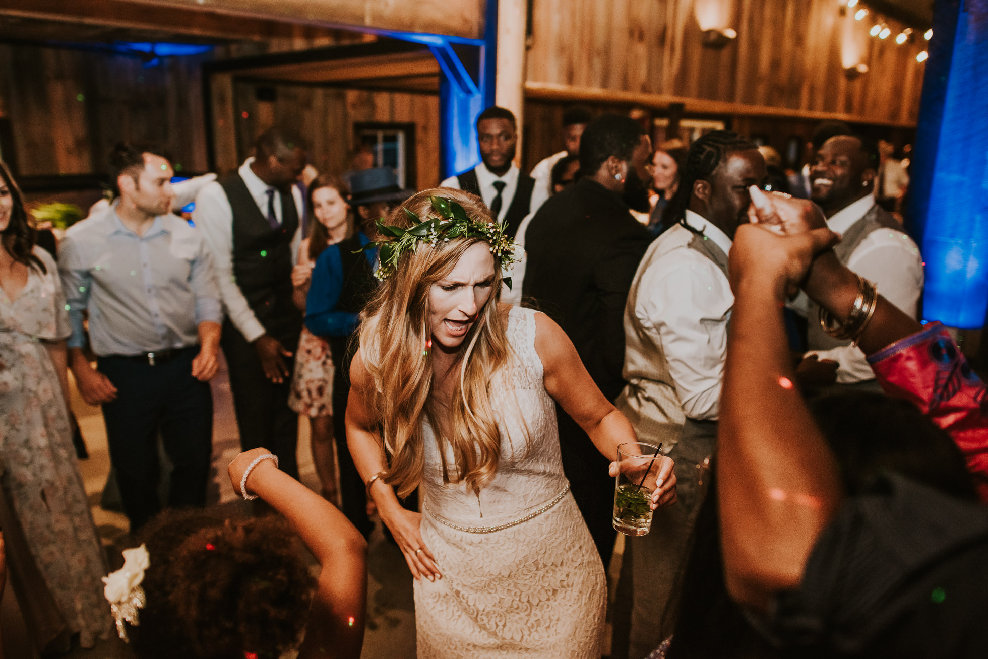 boho bride dancing photographed by Traverse the Tides