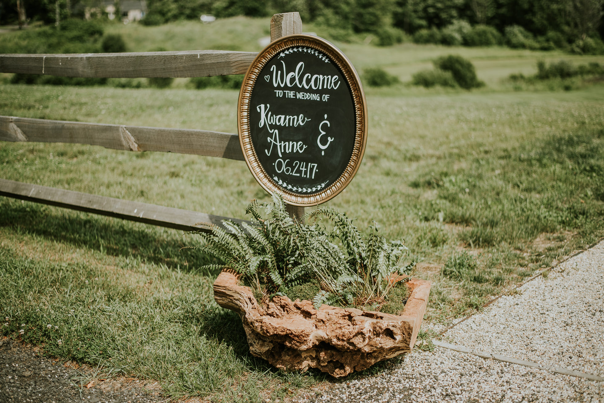 wedding welcome sign photographed by Traverse the Tides