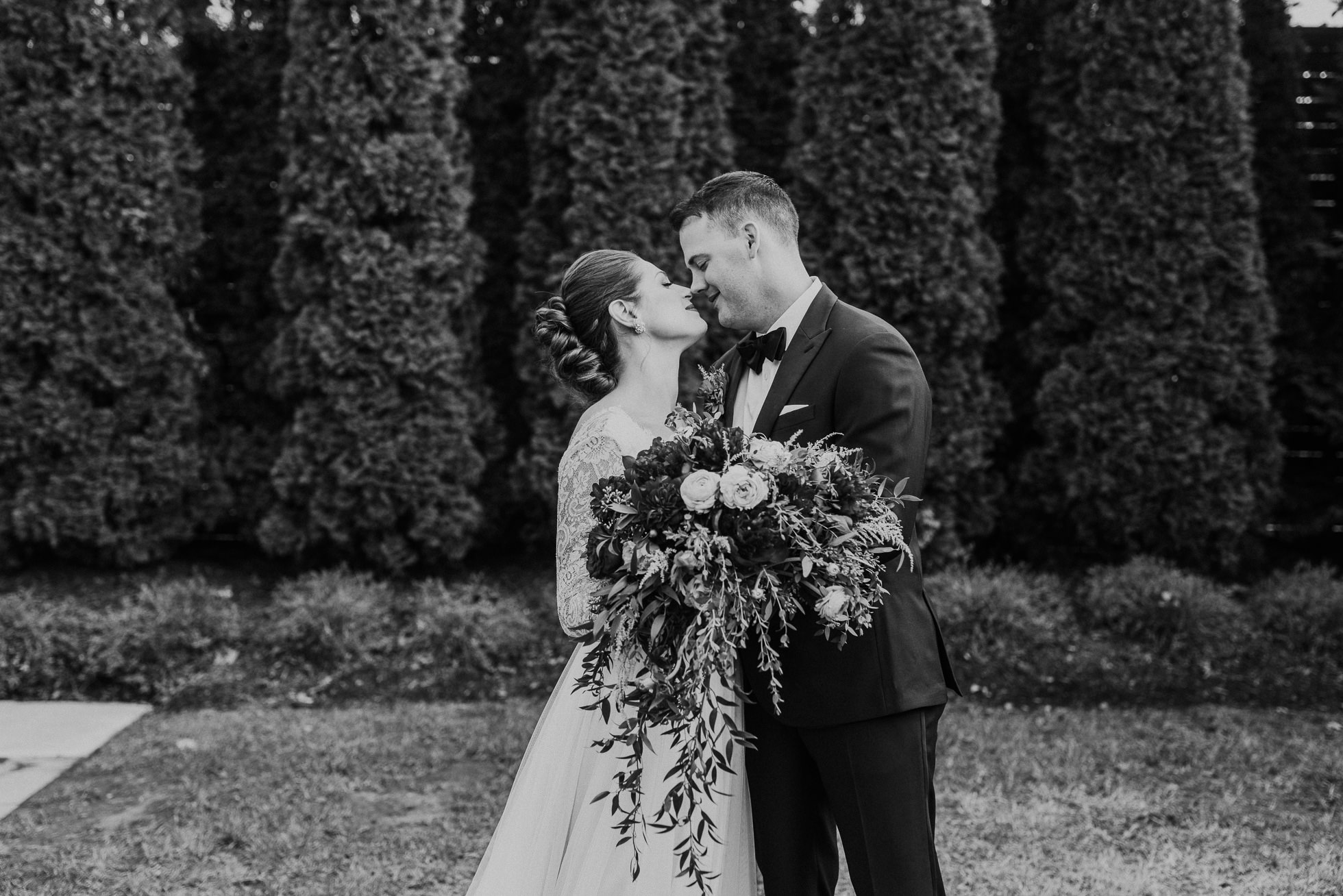 black and white wedding portrait at the cordelle nashville