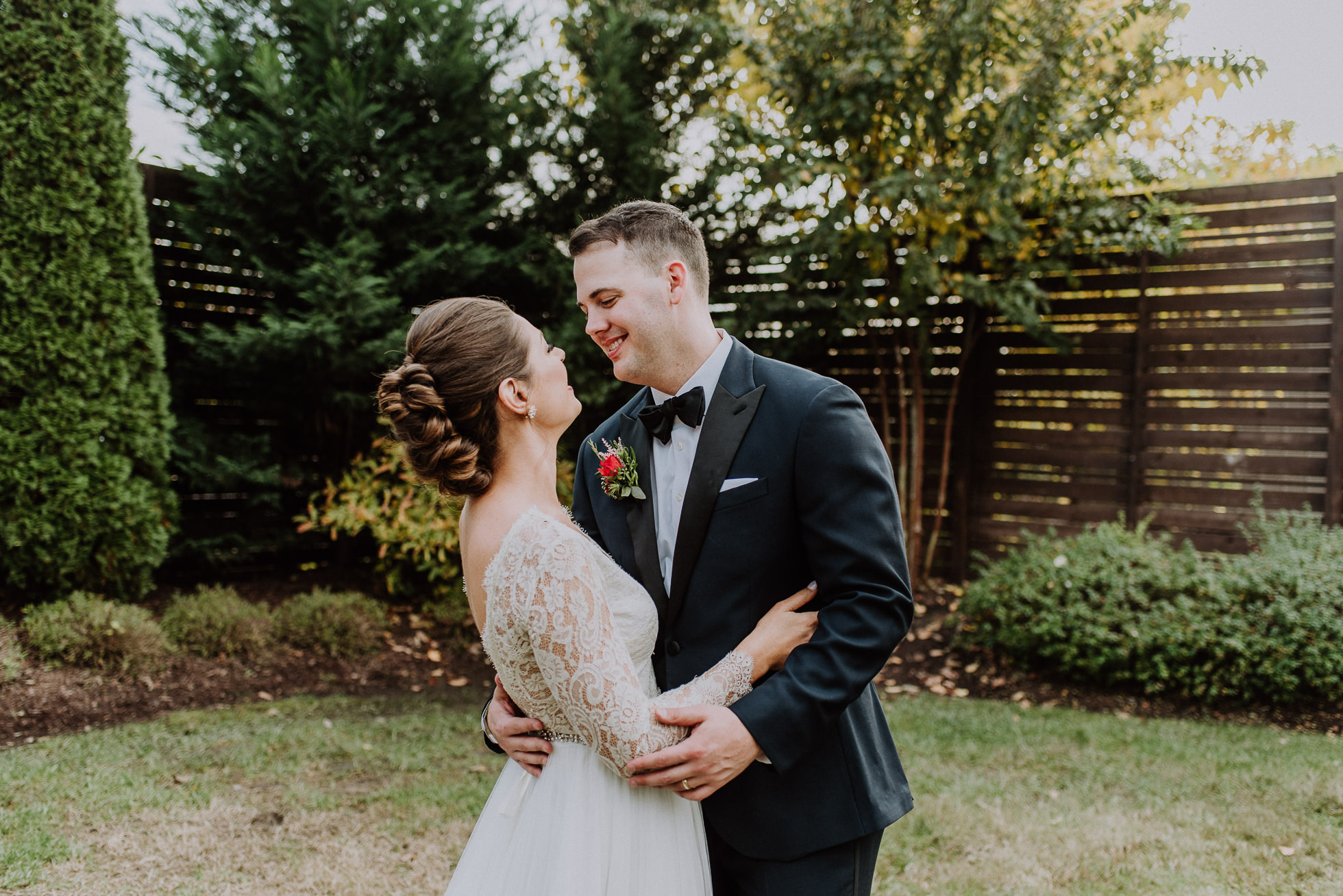 affectionate bride and groom at the cordelle nashville